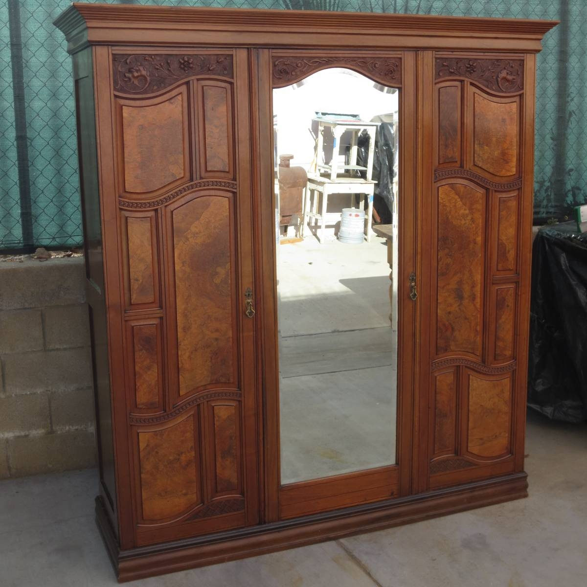 Antique Armoires, Antique Wardrobes, And Antique Furniture From regarding Victorian Wardrobes for Sale (Image 3 of 15)