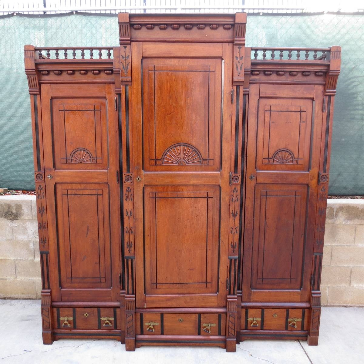 Antique Armoires, Antique Wardrobes, And Antique Furniture From with Victorian Wardrobes (Image 2 of 15)