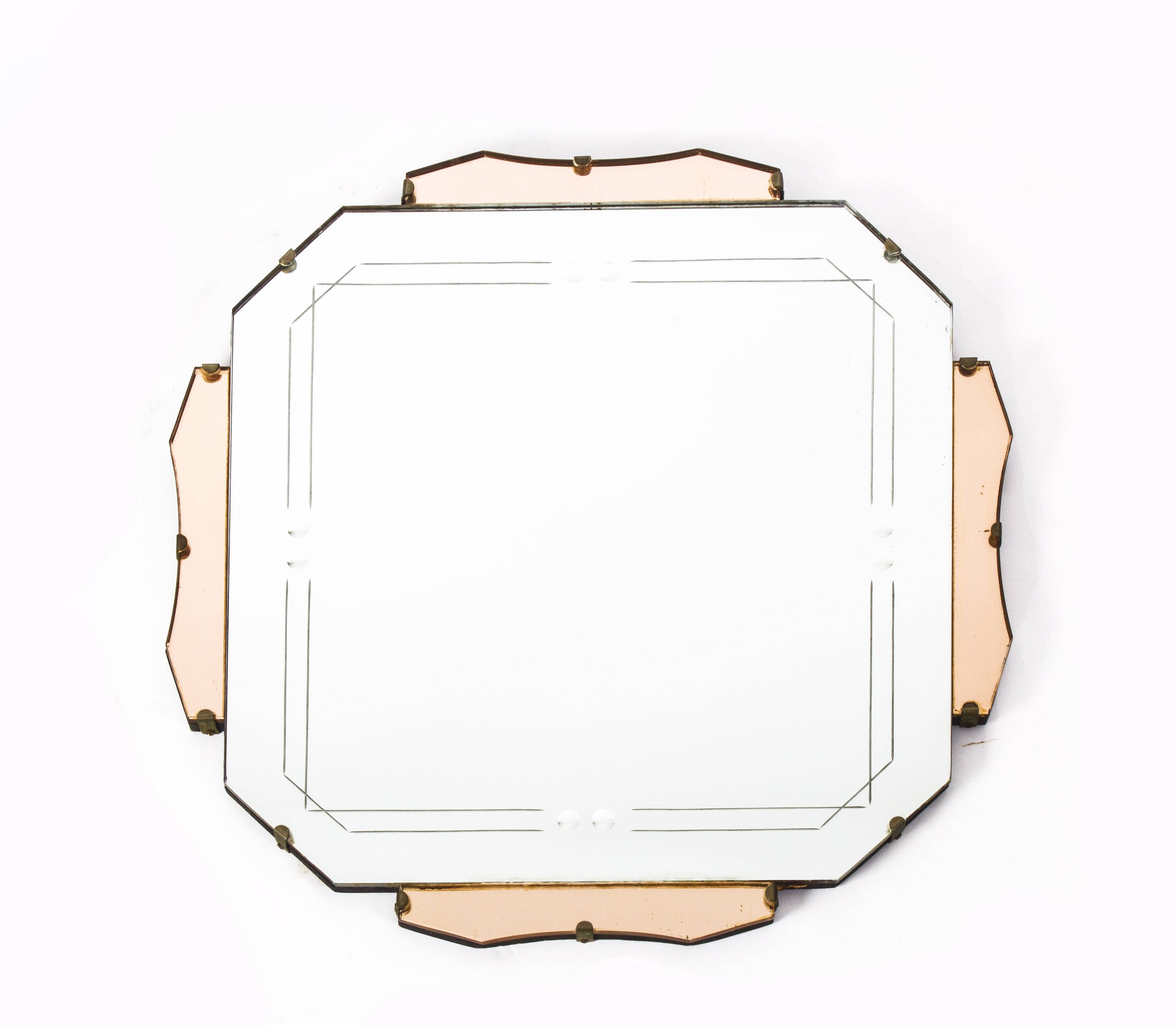 Antique Art Deco Mirror C.1920 | Vinterior inside Antique Art Deco Mirrors (Image 4 of 25)