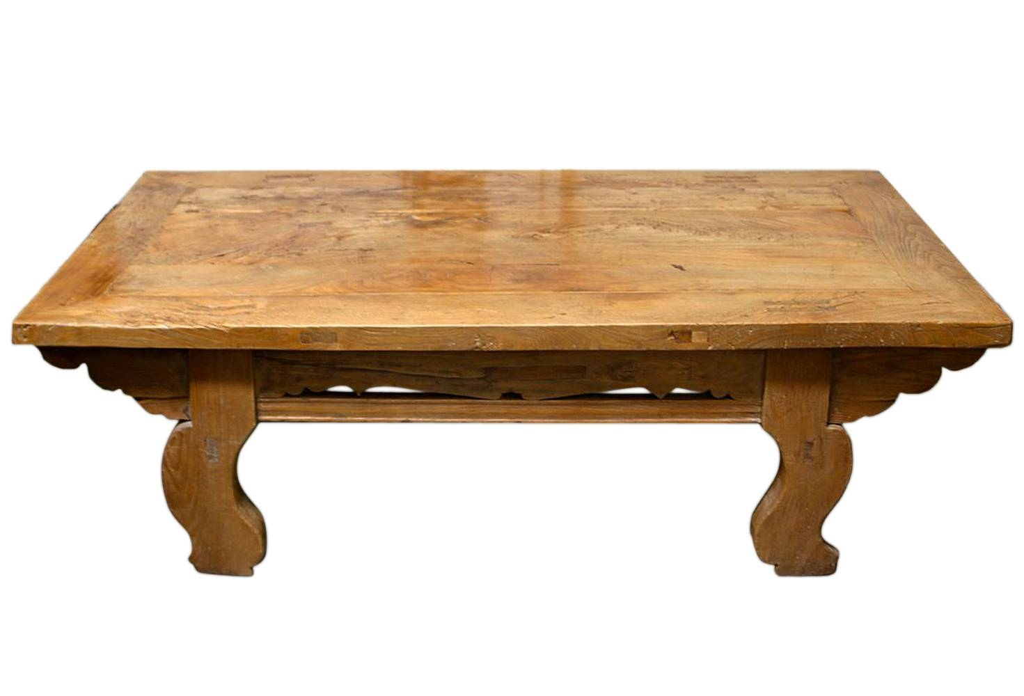 Antique Asian Pine Daybed Coffee Table | Omero Home in Asian Coffee Tables (Image 2 of 30)