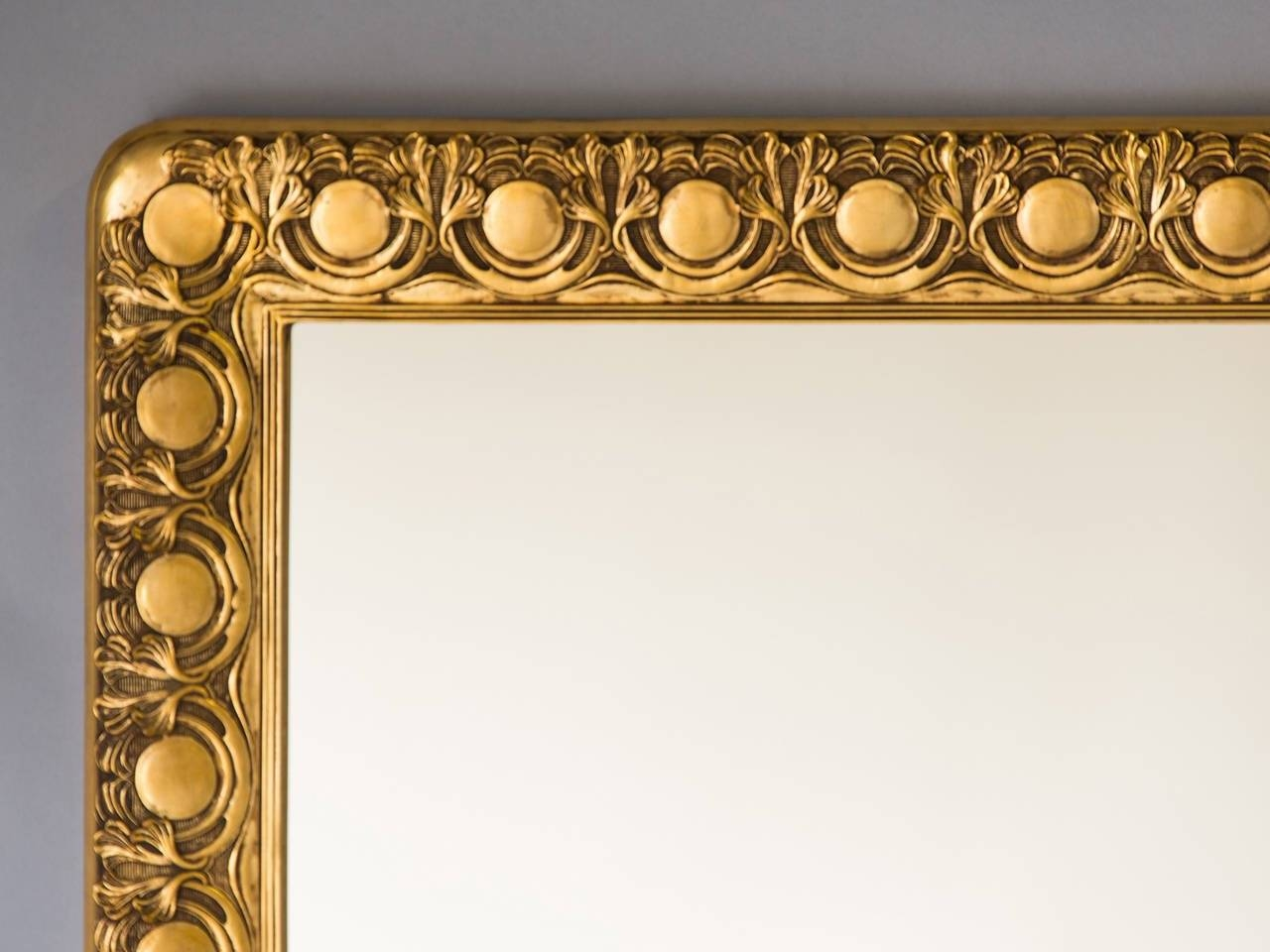 Antique Austrian Art Nouveau Giltwood Frame Mirror, Circa 1890 For in Art Nouveau Mirrors (Image 5 of 25)