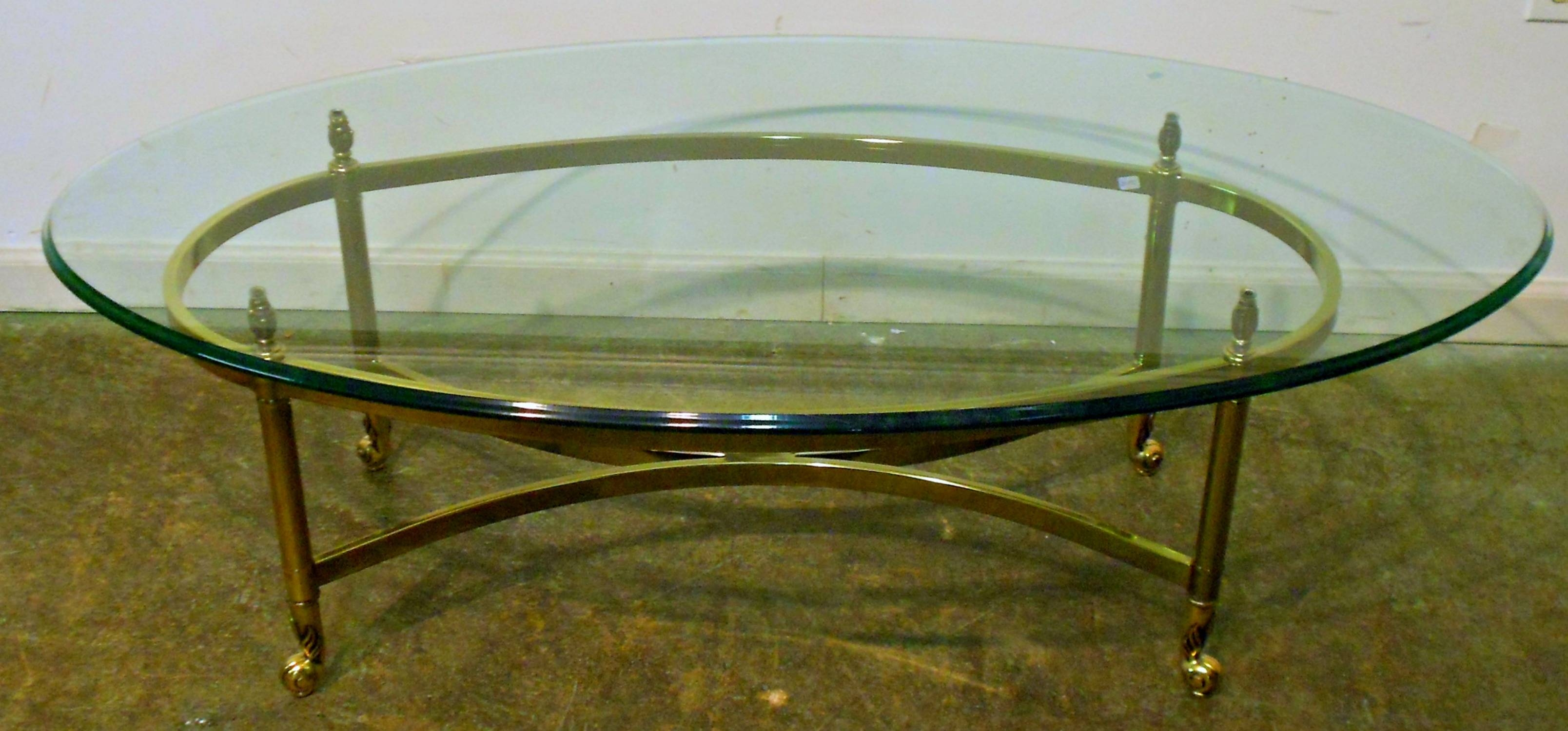 Antique Brass And Glass Coffee Table with Antique Glass Top Coffee Tables (Image 2 of 30)