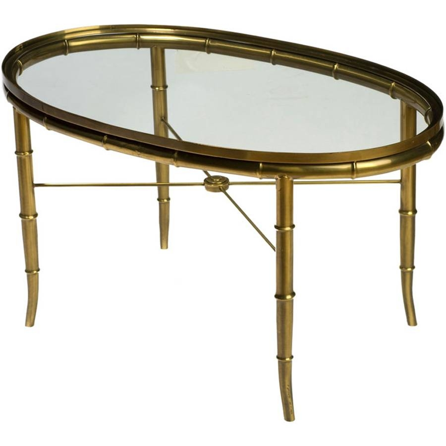 Antique Brass And Glass Coffee Table with regard to Antique Brass Glass Coffee Tables (Image 5 of 37)