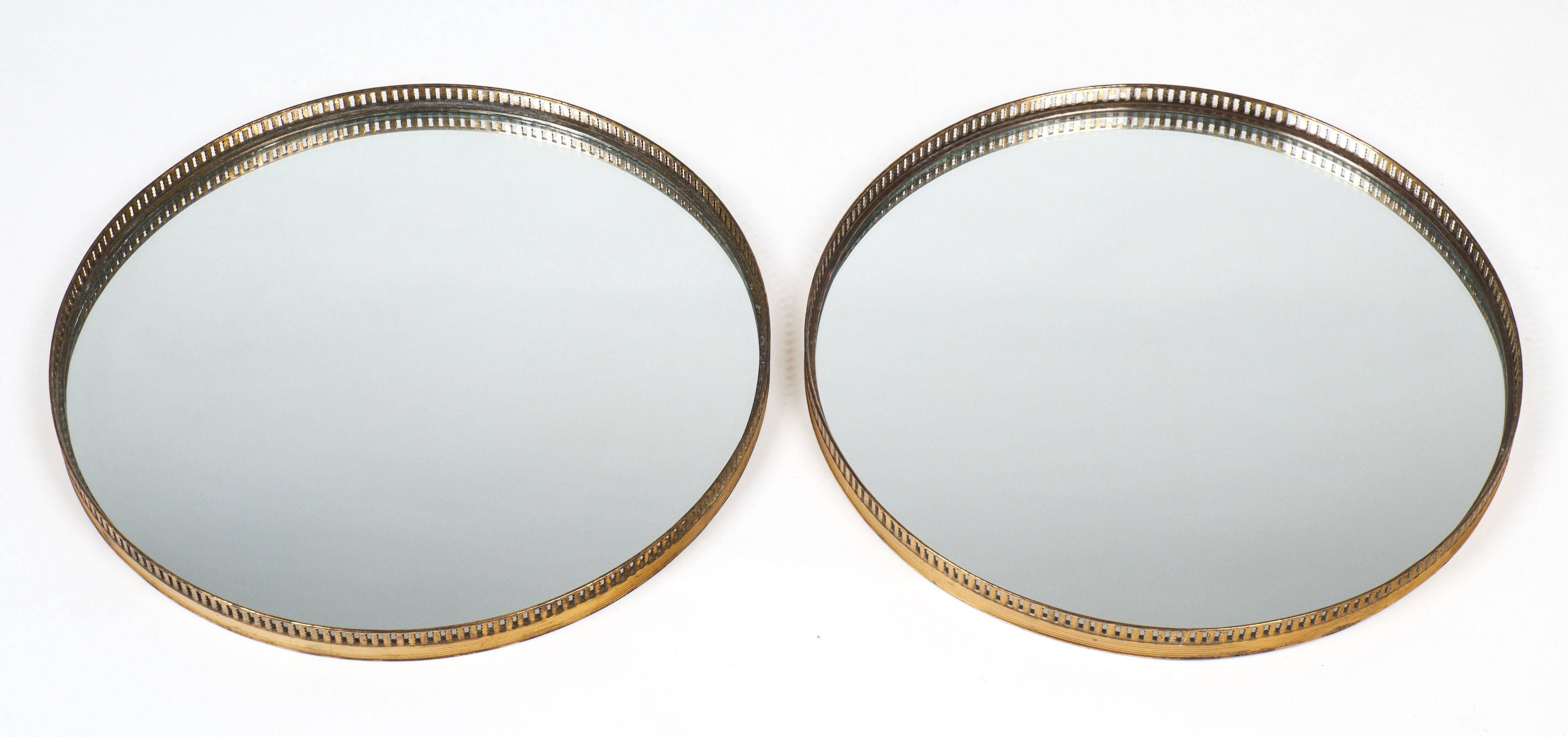 Antique Brass Gallery Round Wall Mirrors - Jean Marc Fray with Vintage Wall Mirrors (Image 4 of 25)