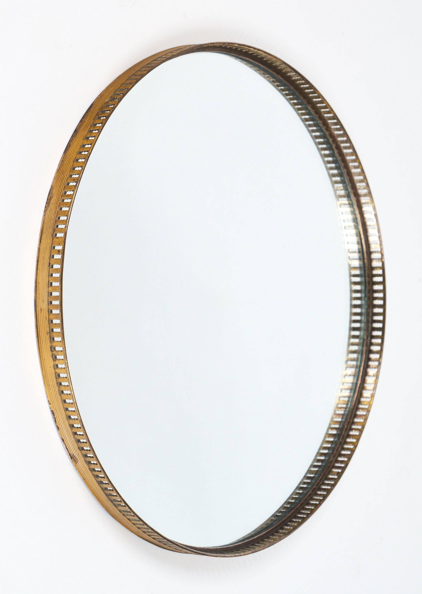 Antique Brass Gallery Round Wall Mirrors - Jean Marc Fray within Antique Round Mirrors (Image 4 of 25)