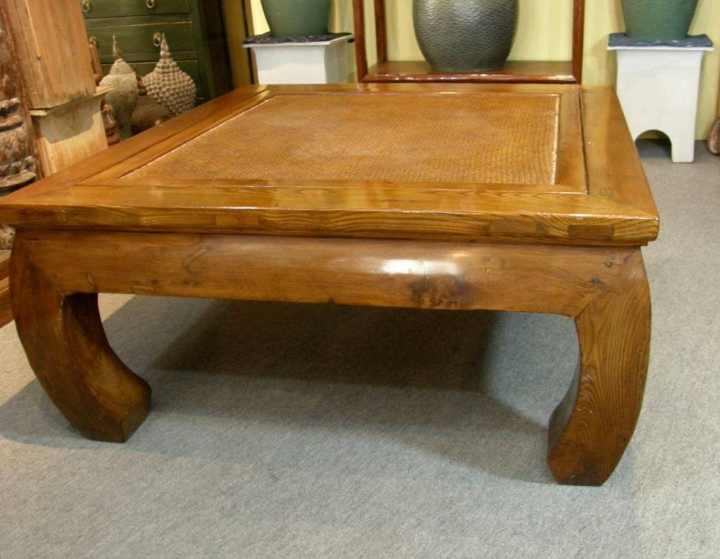 Antique Chinese Chow Leg Bamboo Top Kang Coffee Table At 1Stdibs with regard to Chinese Coffee Tables (Image 2 of 30)