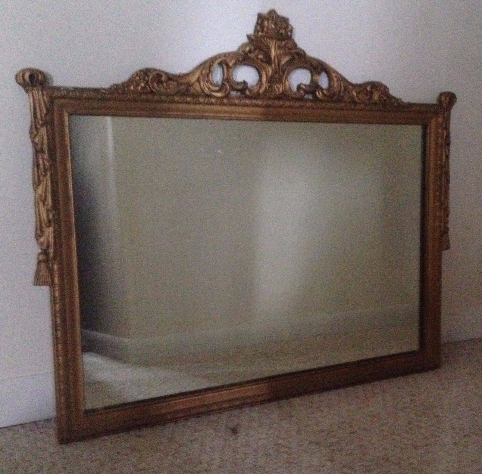 Antique Decorative Carved Wood Gold Gilt Mirror | What's It Worth pertaining to Antique Gilt Mirrors (Image 8 of 25)