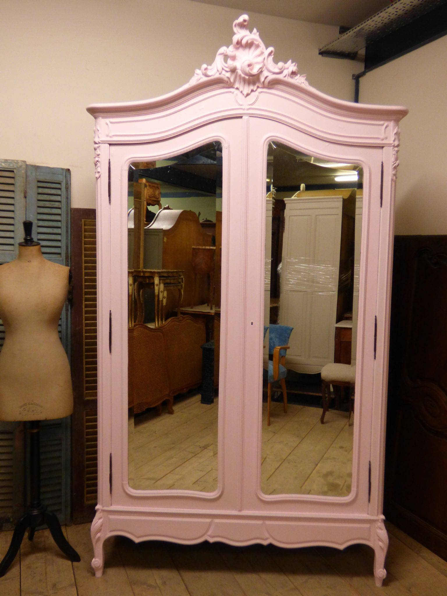 Antique French Armoire Bookcase - French Wardrobe - Hc09 - The regarding Vintage French Wardrobes (Image 2 of 15)