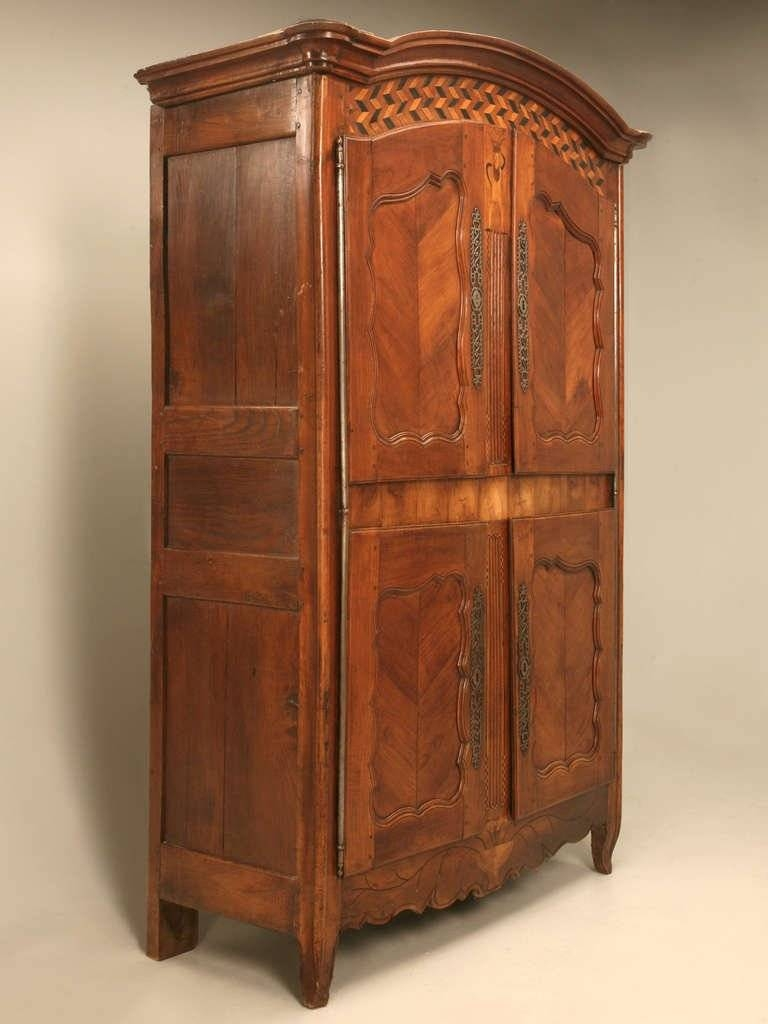 Antique French Armoire With Whimsical Features C1700's For Sale At throughout Antique French Wardrobes (Image 1 of 15)