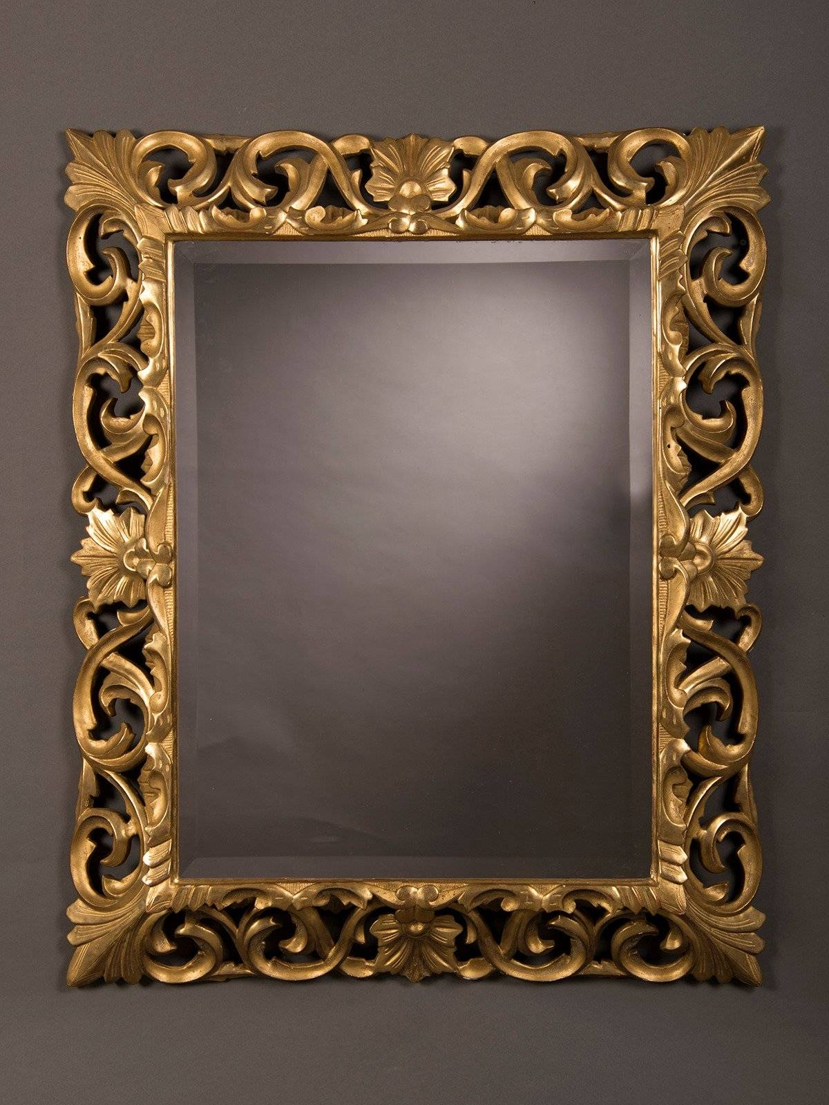 "Antique French Baroque Style Gold Beveled Mirror, 1875 (35 1/2""w X regarding Baroque Style Mirrors (Image 3 of 25)"