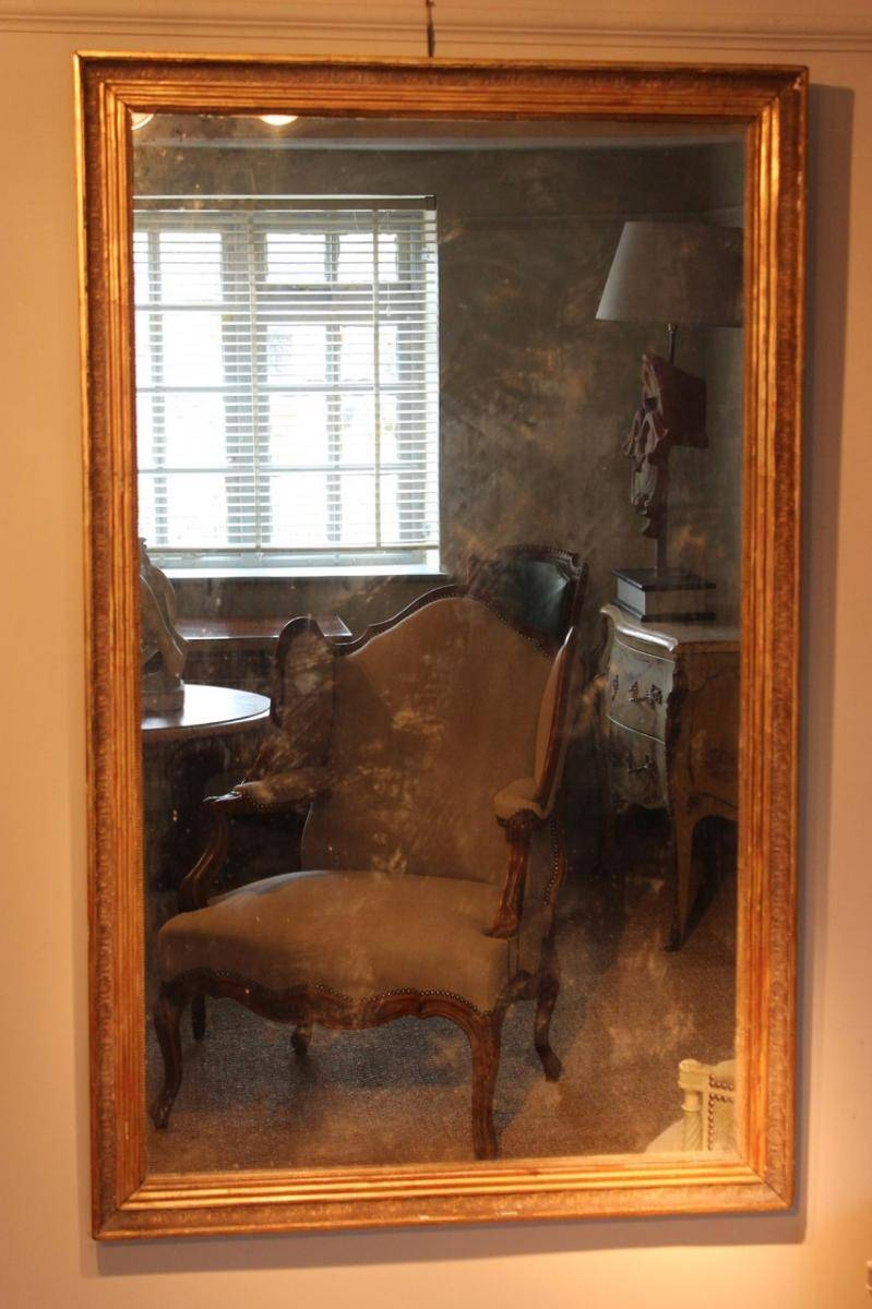 Antique French Gilded Mirror For Sale At Pamono in Antique Gilded Mirrors (Image 7 of 25)