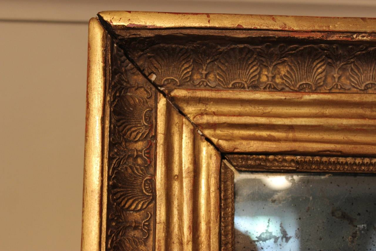 Antique French Gilded Mirror For Sale At Pamono Intended For Antique Gilded Mirrors (View 24 of 25)