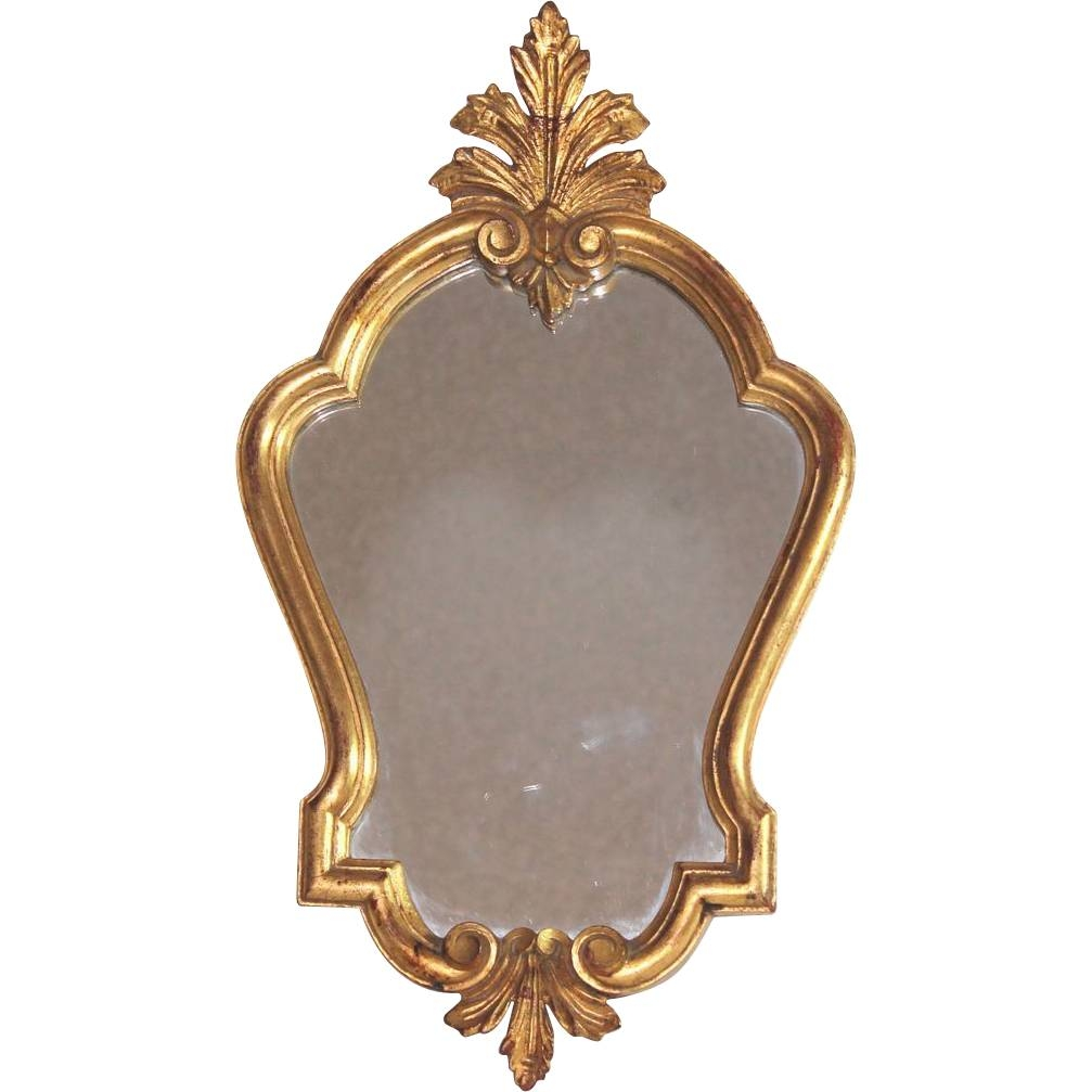 Antique French Gilded Wood Louis Xv Mirror From Julietjonesvintage pertaining to Antique Gilded Mirrors (Image 10 of 25)