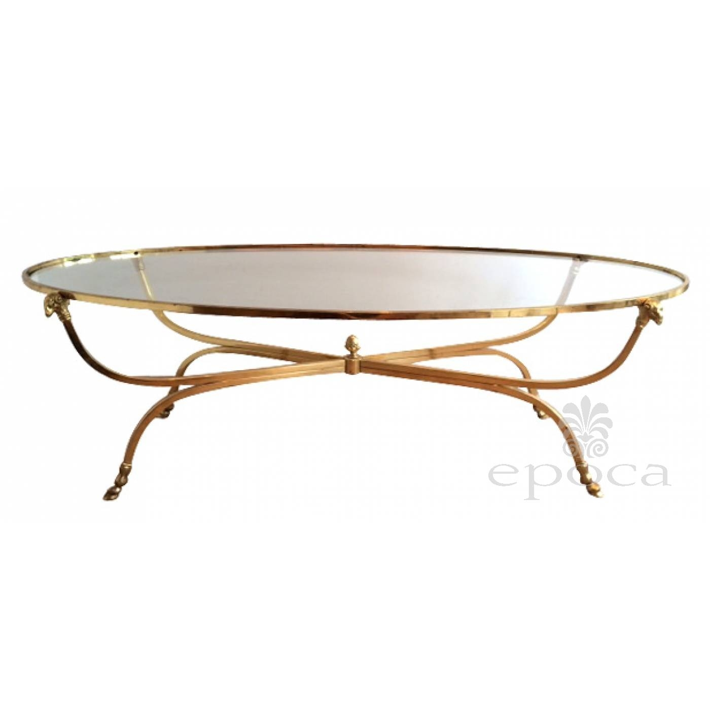 Antique French Glass Top Coffee Tables | Coffee Tables Decoration inside Antique Glass Top Coffee Tables (Image 5 of 30)