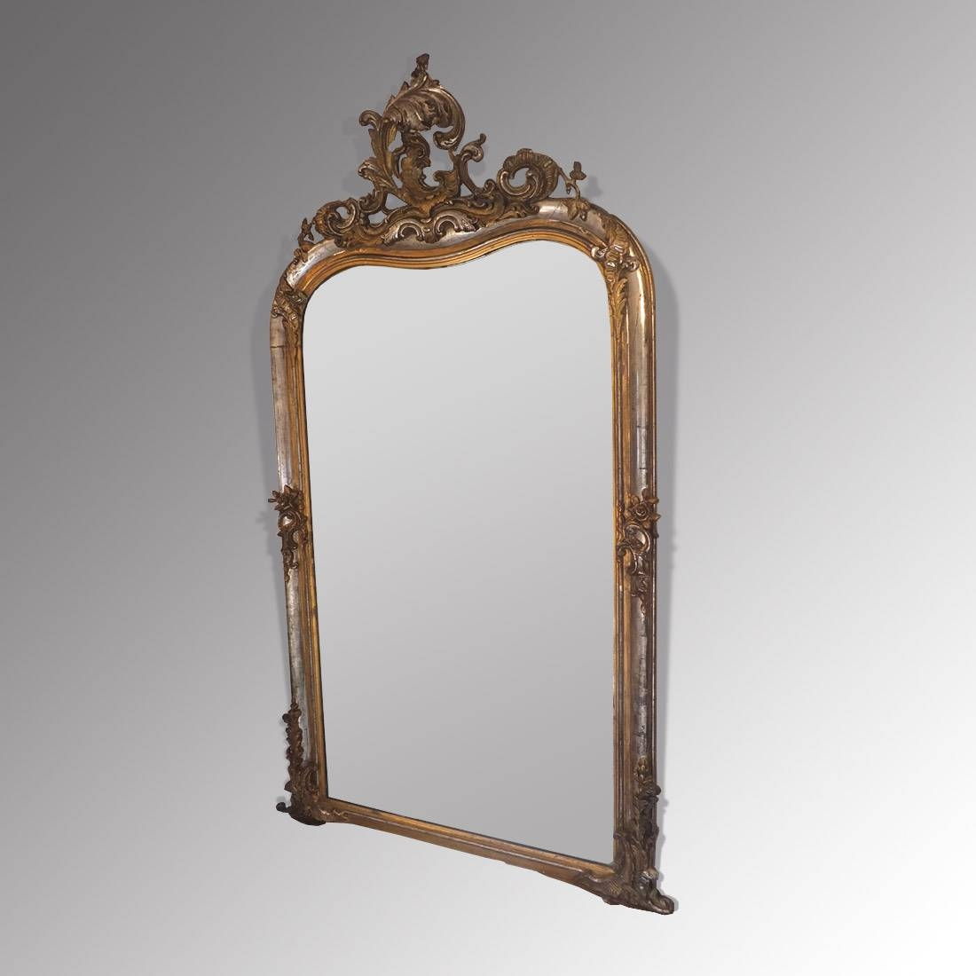 Antique French Silver Gilt Mirror - Antique Mirrors in Silver Antique Mirrors (Image 1 of 25)