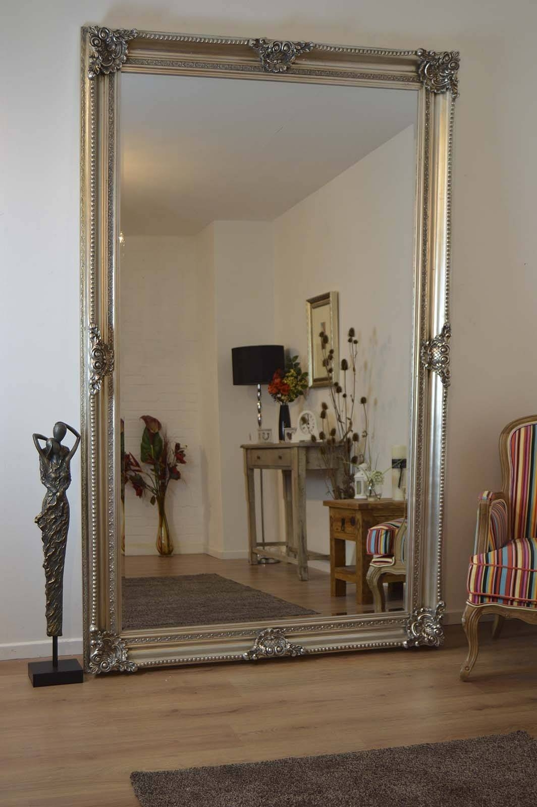 Antique Full Length Wall Mirrors Antique Wood Framed Wall Mirrors for Massive Mirrors (Image 2 of 25)