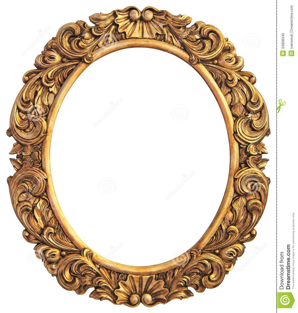 Antique Gilded Hand Mirror Over White Royalty Free Stock Image in Antique Gilded Mirrors (Image 11 of 25)