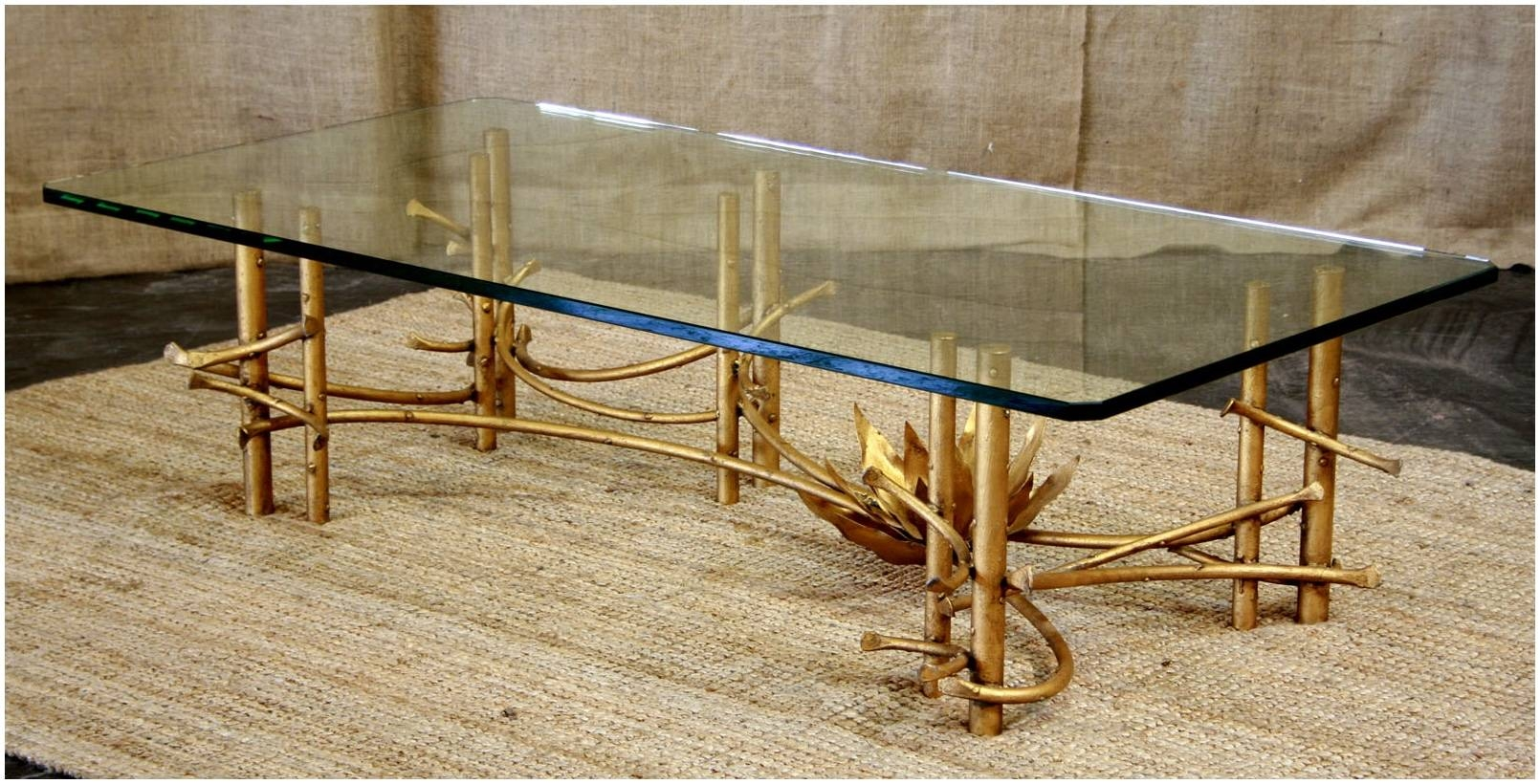Antique Gold Bamboo Coffee Table – Cocinacentral.co pertaining to Gold Bamboo Coffee Tables (Image 5 of 30)