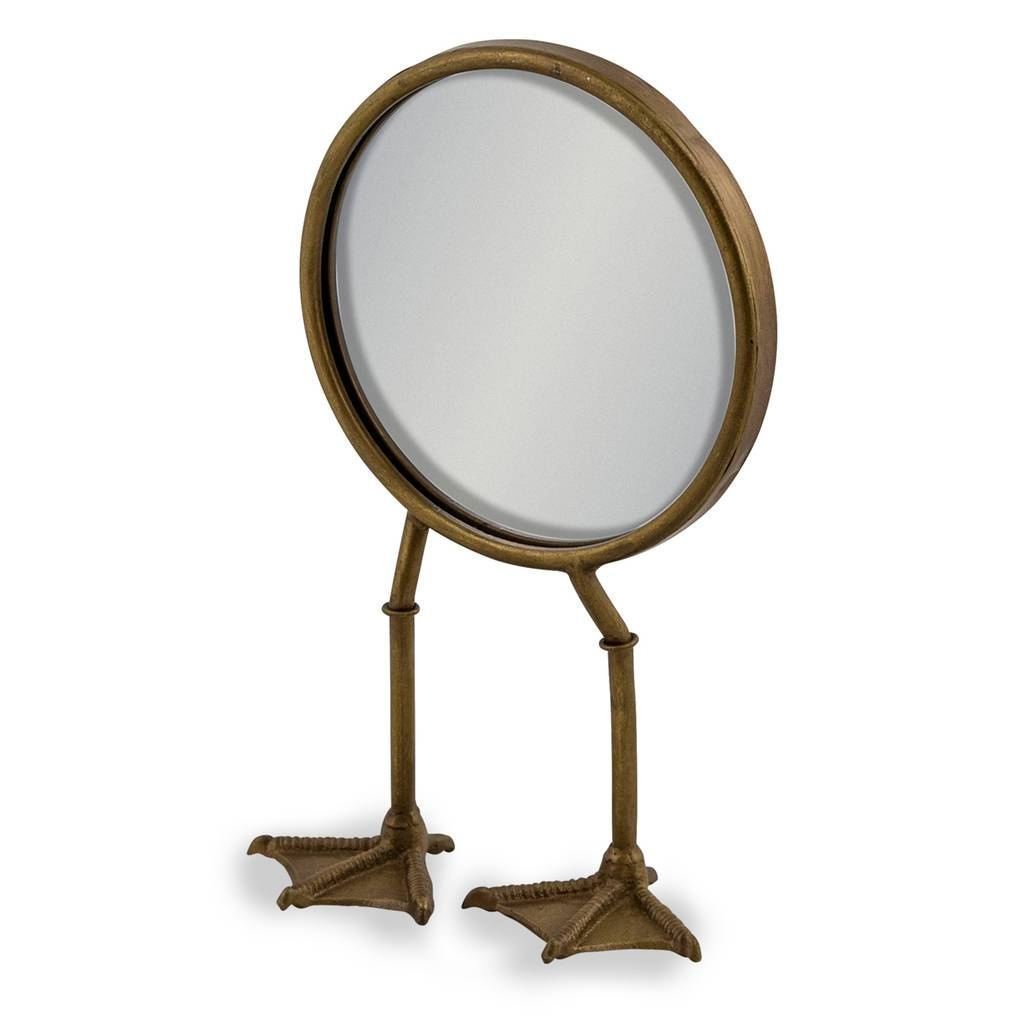 Antique Gold Duck Feet Table Mirrori Love Retro with Gold Table Mirrors (Image 4 of 25)