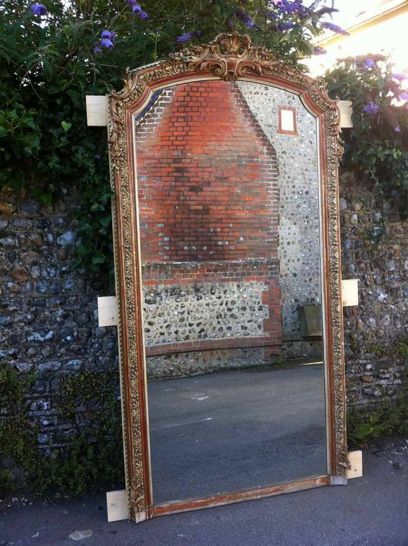 Antique Large French Gilt Ornate Wall Mirror - Antique All Our regarding Antique Large Mirrors (Image 13 of 25)