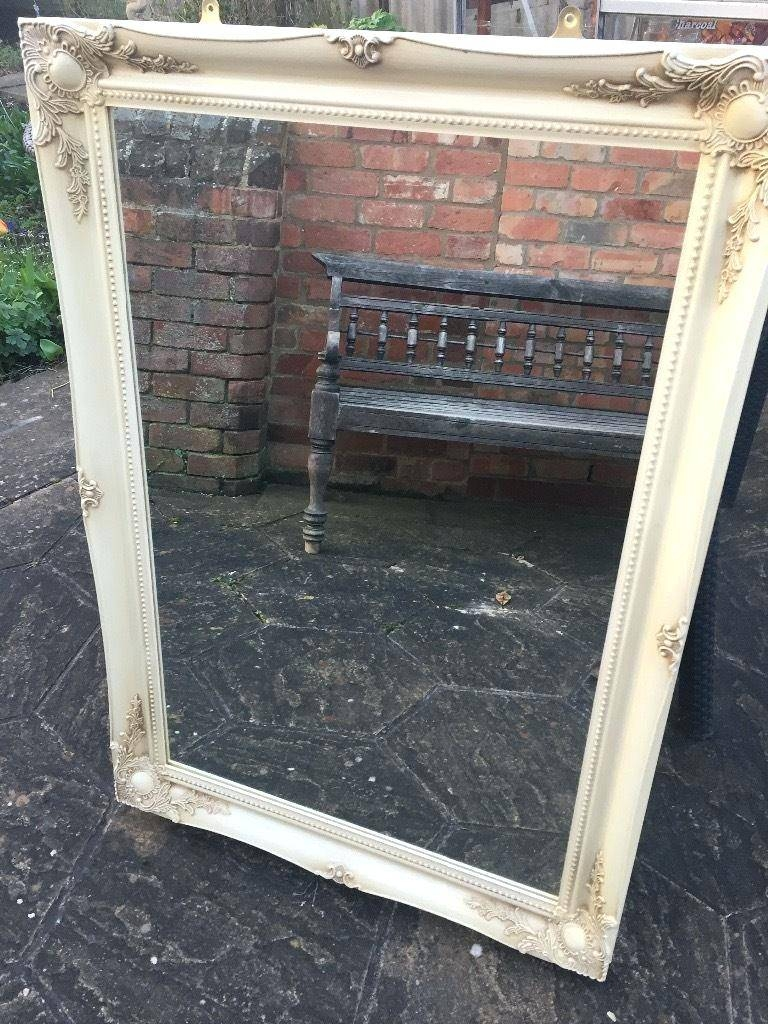Antique Looking Mirror – Shopwiz throughout Antique Cream Mirrors (Image 5 of 25)