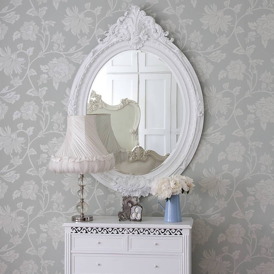 Antique Looking Mirrors: Add A Little Classic Touch To Your Room with regard to White Antique Mirrors (Image 3 of 25)