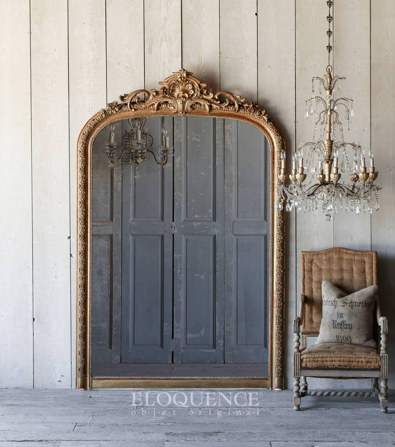 Antique Louis Philippe Gilt Ballroom Mirror From France, Circa pertaining to Antique Gilt Mirrors (Image 13 of 25)