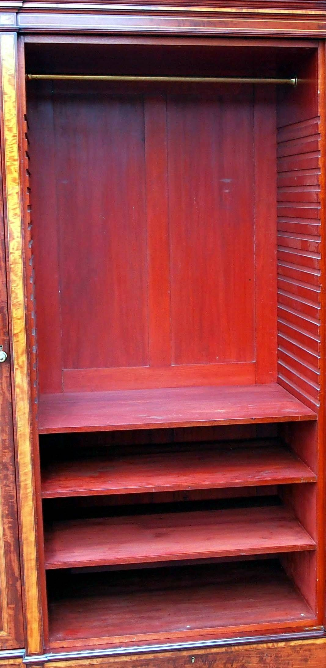 Antique Mahogany Breakfront Wardrobe (C. 1850 England) From S & S in Mahogany Breakfront Wardrobe (Image 4 of 30)