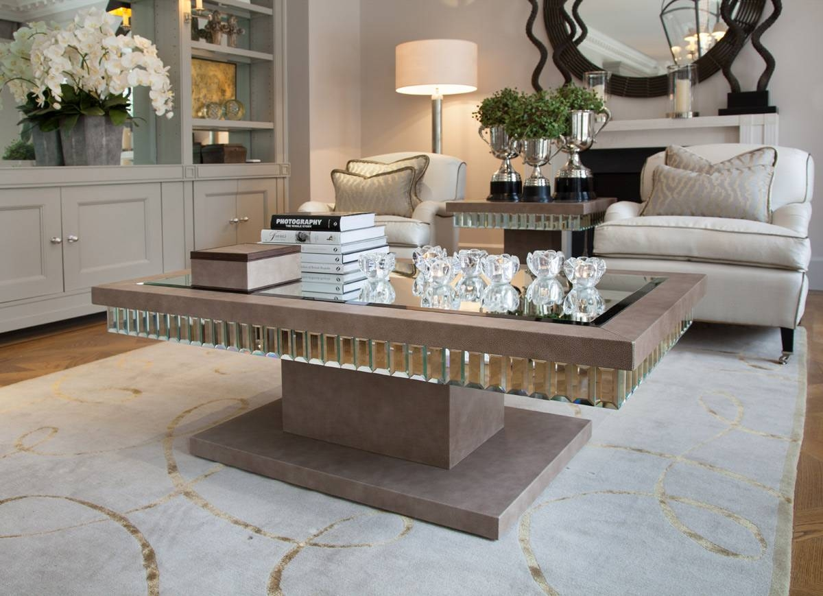 Antique Mirrored Coffee Table : The Attractive Mirrored Coffee inside Antique Mirrored Coffee Tables (Image 1 of 30)