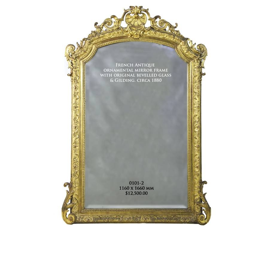 Antique Mirrors Melbourne | French Antique Mirrors >> Giltwood throughout Small Antique Mirrors (Image 4 of 25)