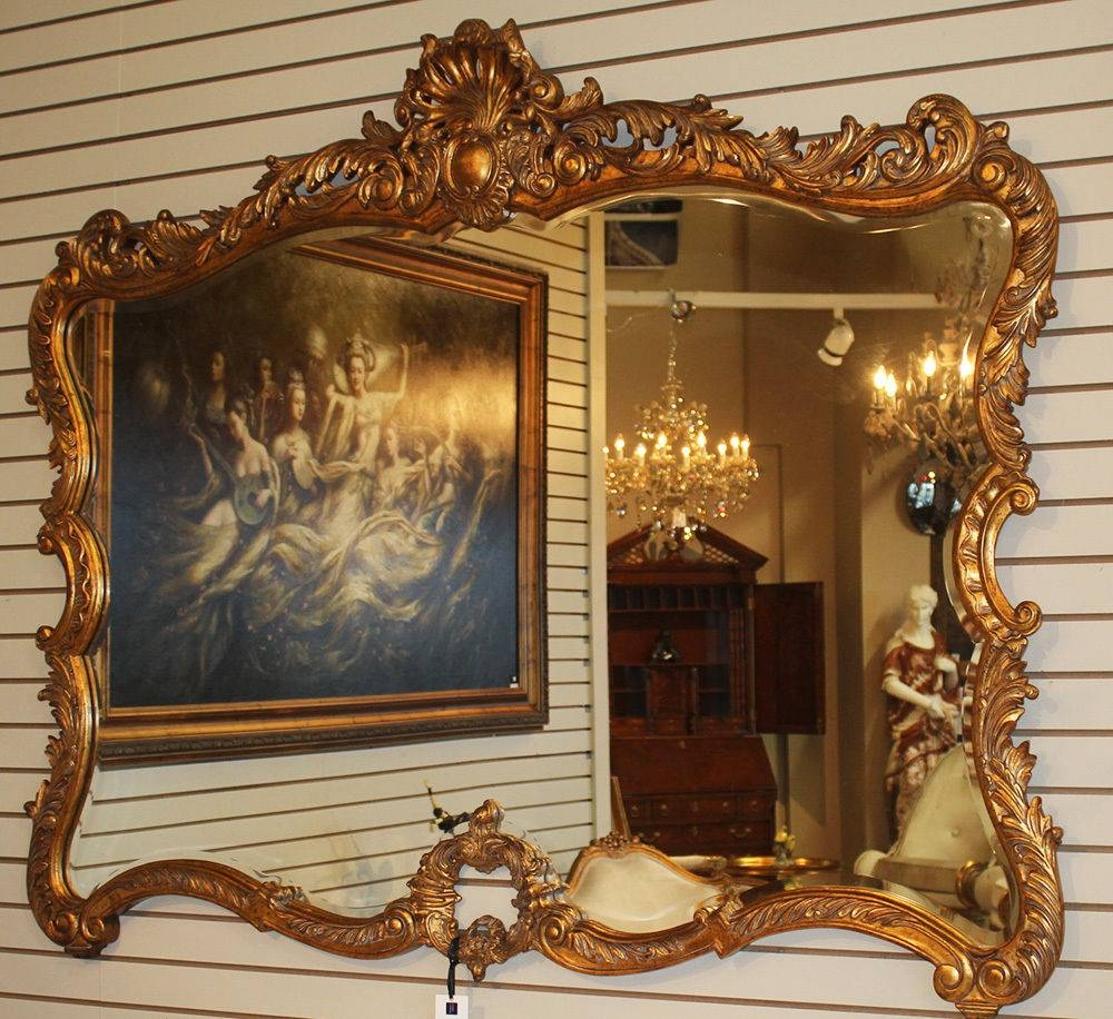 Antique Mirrors regarding Old Fashioned Mirrors (Image 7 of 25)