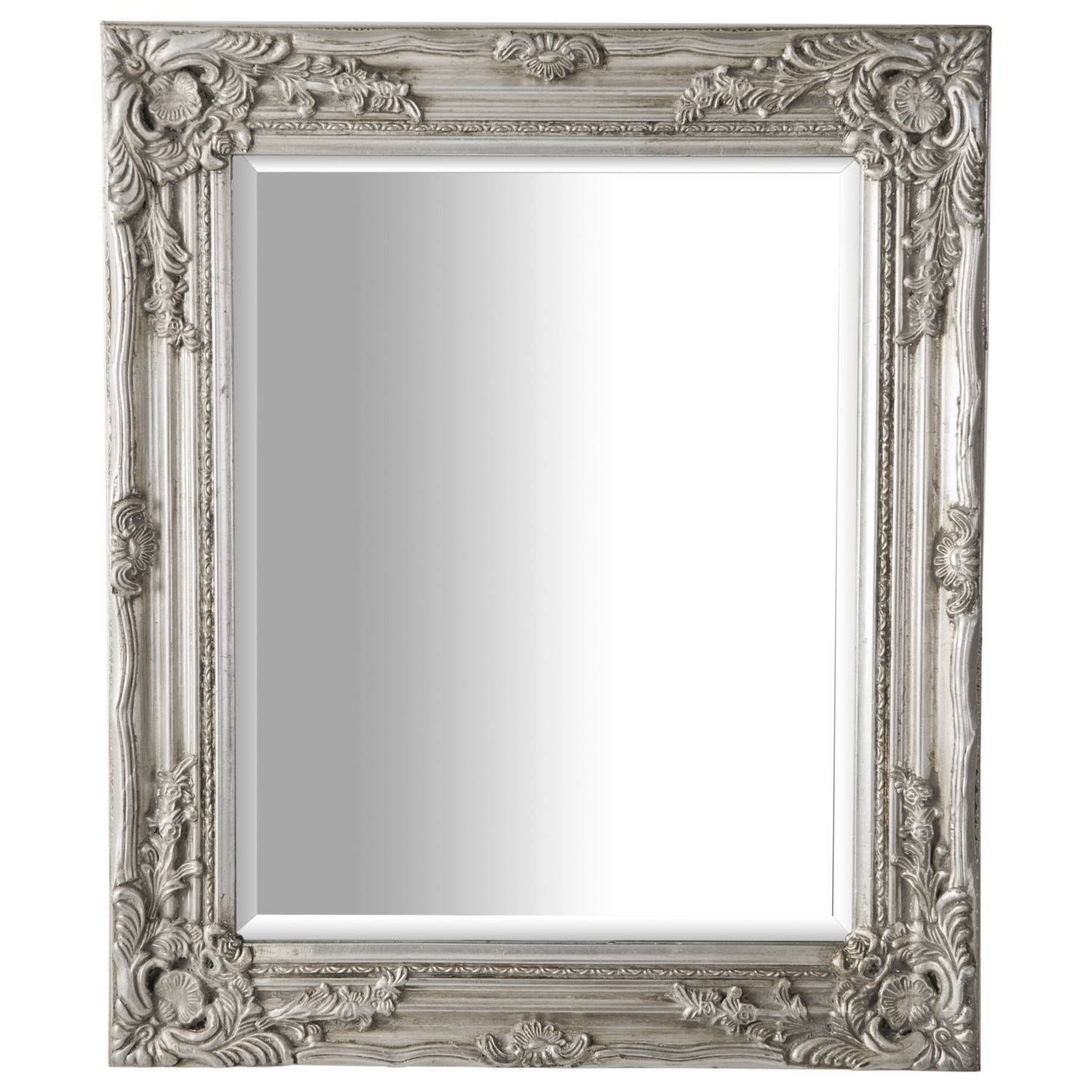 Antique Ornate Mirror Silver intended for Ornate Silver Mirrors (Image 3 of 25)