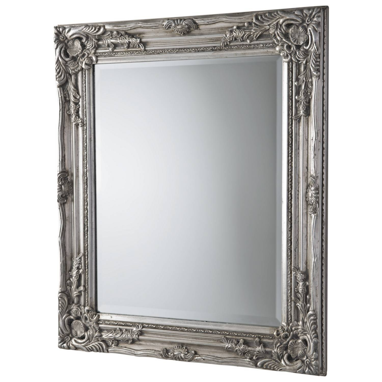 Antique Ornate Mirror Silver pertaining to Silver Ornate Framed Mirrors (Image 3 of 25)