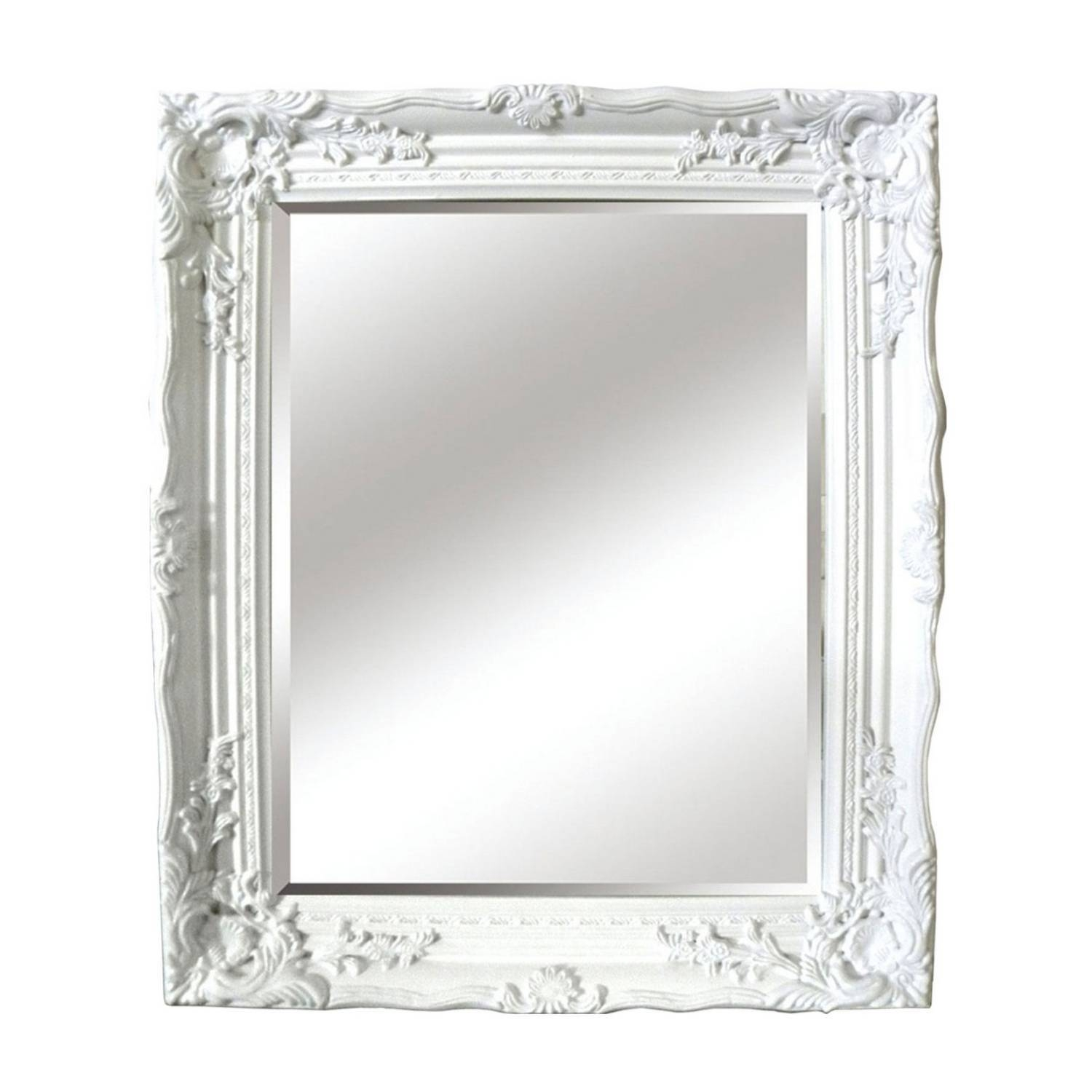 Antique Ornate Mirror within Large Ornate White Mirrors (Image 3 of 25)