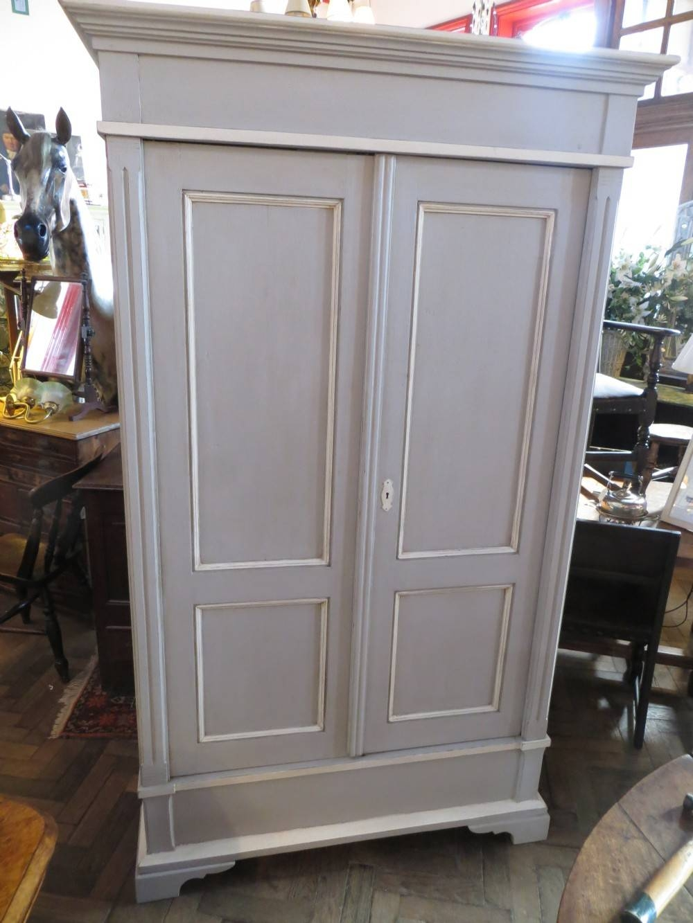 Antique Painted Pine Breakdown Wardrobe | 266688 | Sellingantiques within Painted Wardrobes (Image 1 of 15)
