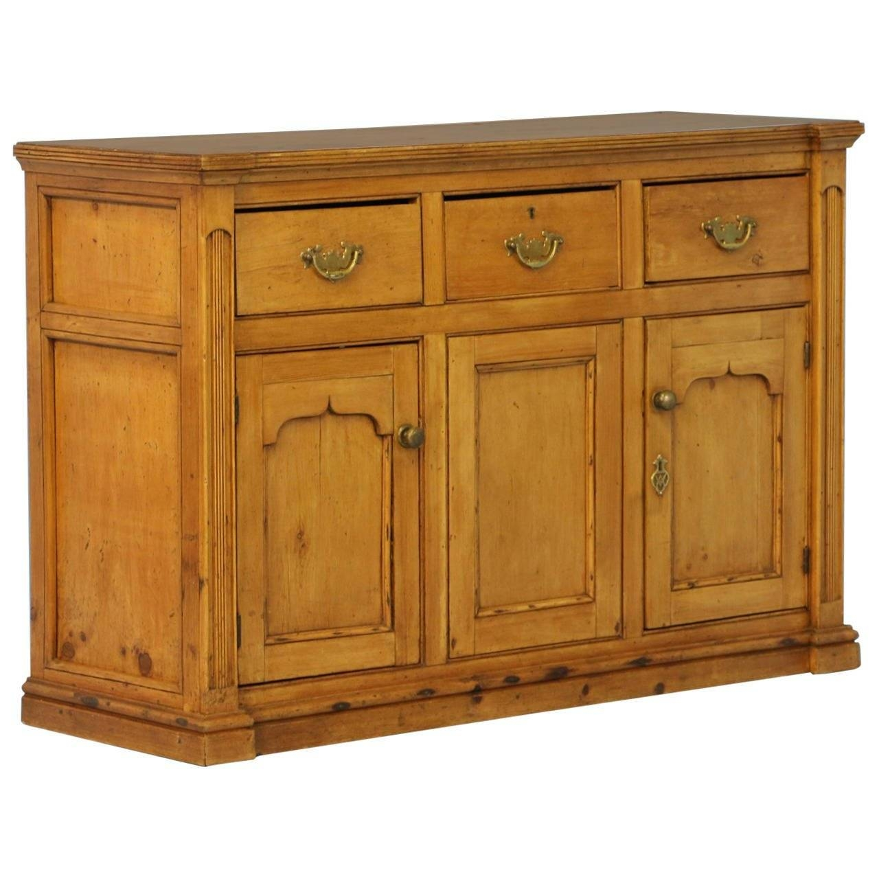Antique Pine Buffet Sideboard, England, Circa 1850 At 1Stdibs Within Chinese Sideboards (View 5 of 30)