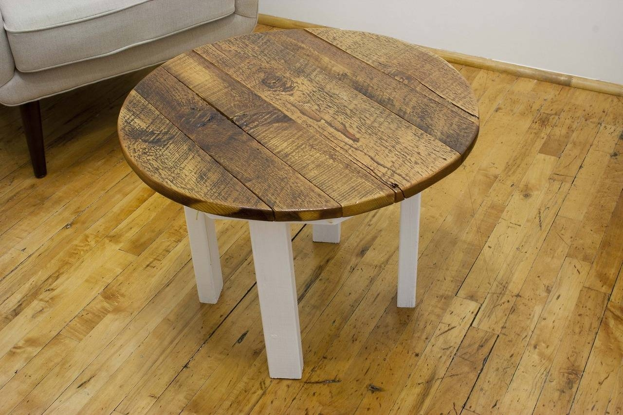 Antique Pine Coffee Table Versaille Oak Coffee Table Round pertaining to Round Pine Coffee Tables (Image 3 of 30)