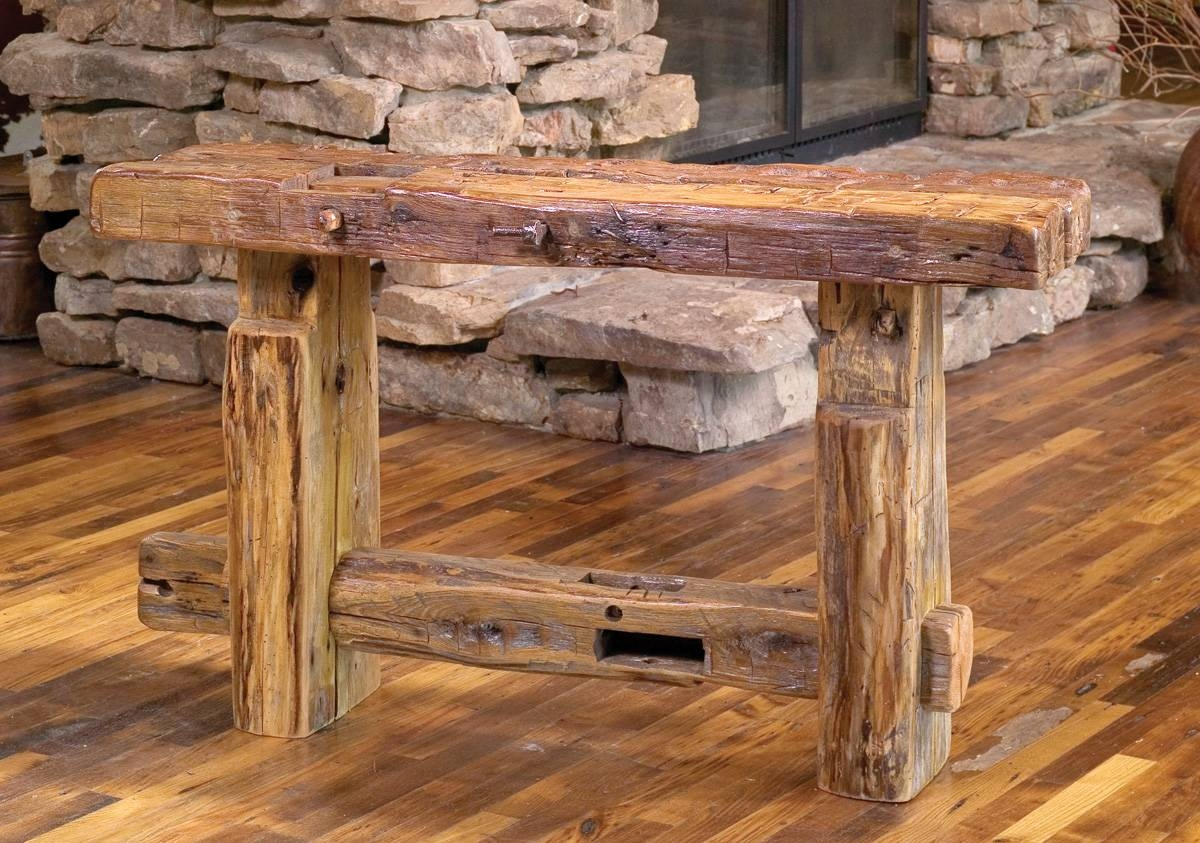 Antique Reclaimed Barn Wood Furniture — Optimizing Home Decor inside Rustic Barnwood Coffee Tables (Image 1 of 30)