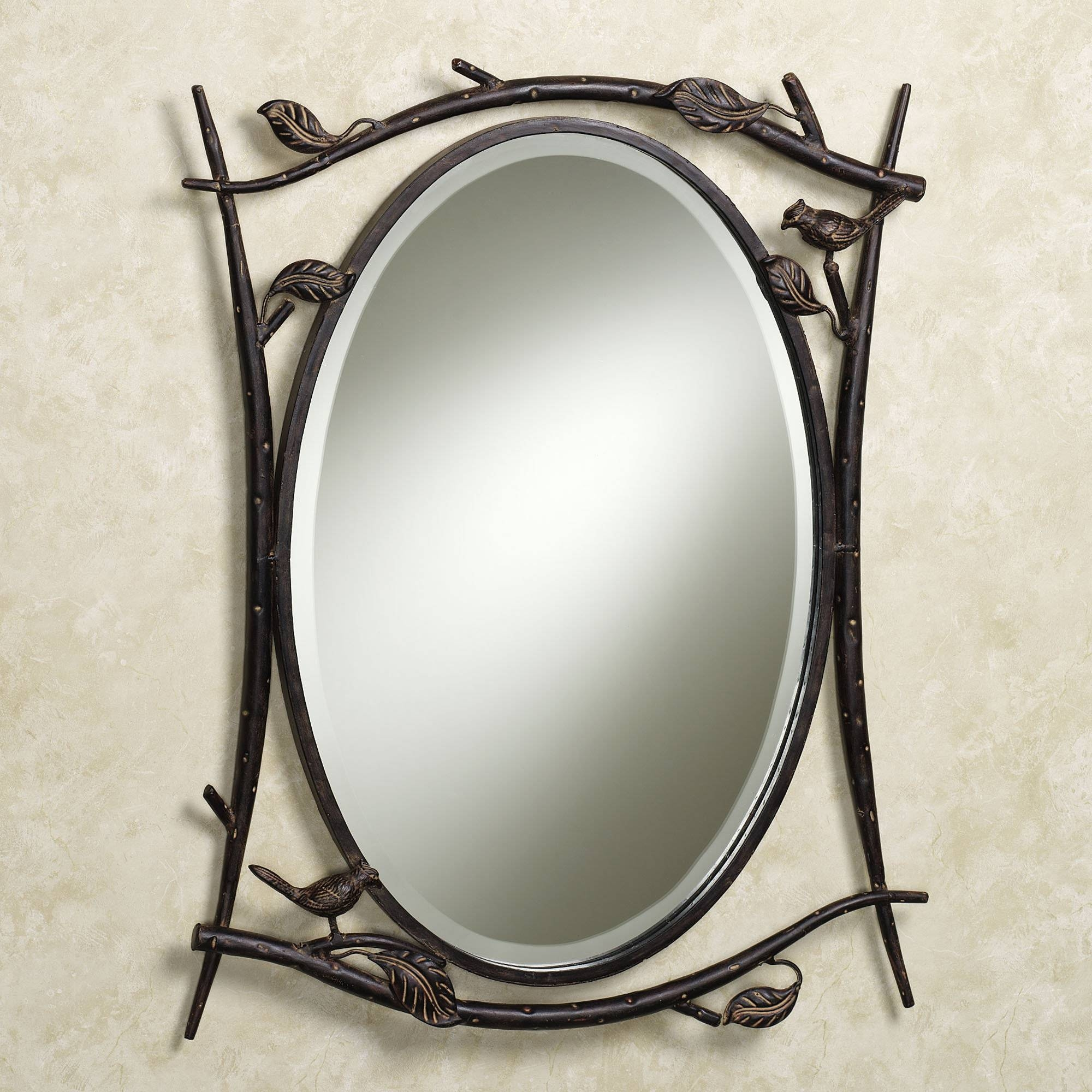 Antique Rectangular Wall Mirrors With Carving Iron Frames As throughout Iron Framed Mirrors (Image 1 of 25)