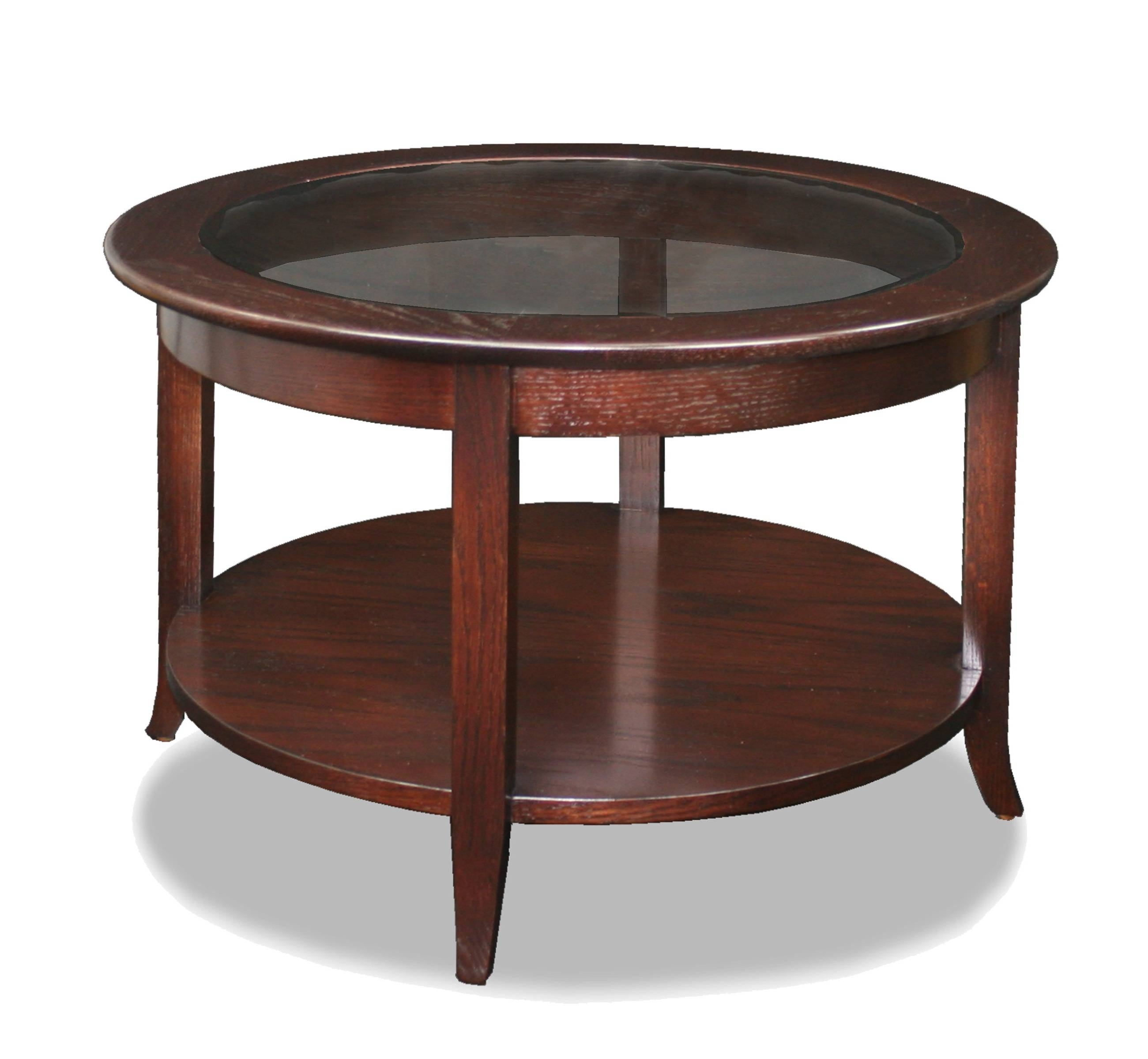 Antique Round End Table. Vintage 1970S Round End Table. Carved regarding Round Oak Coffee Tables (Image 3 of 30)