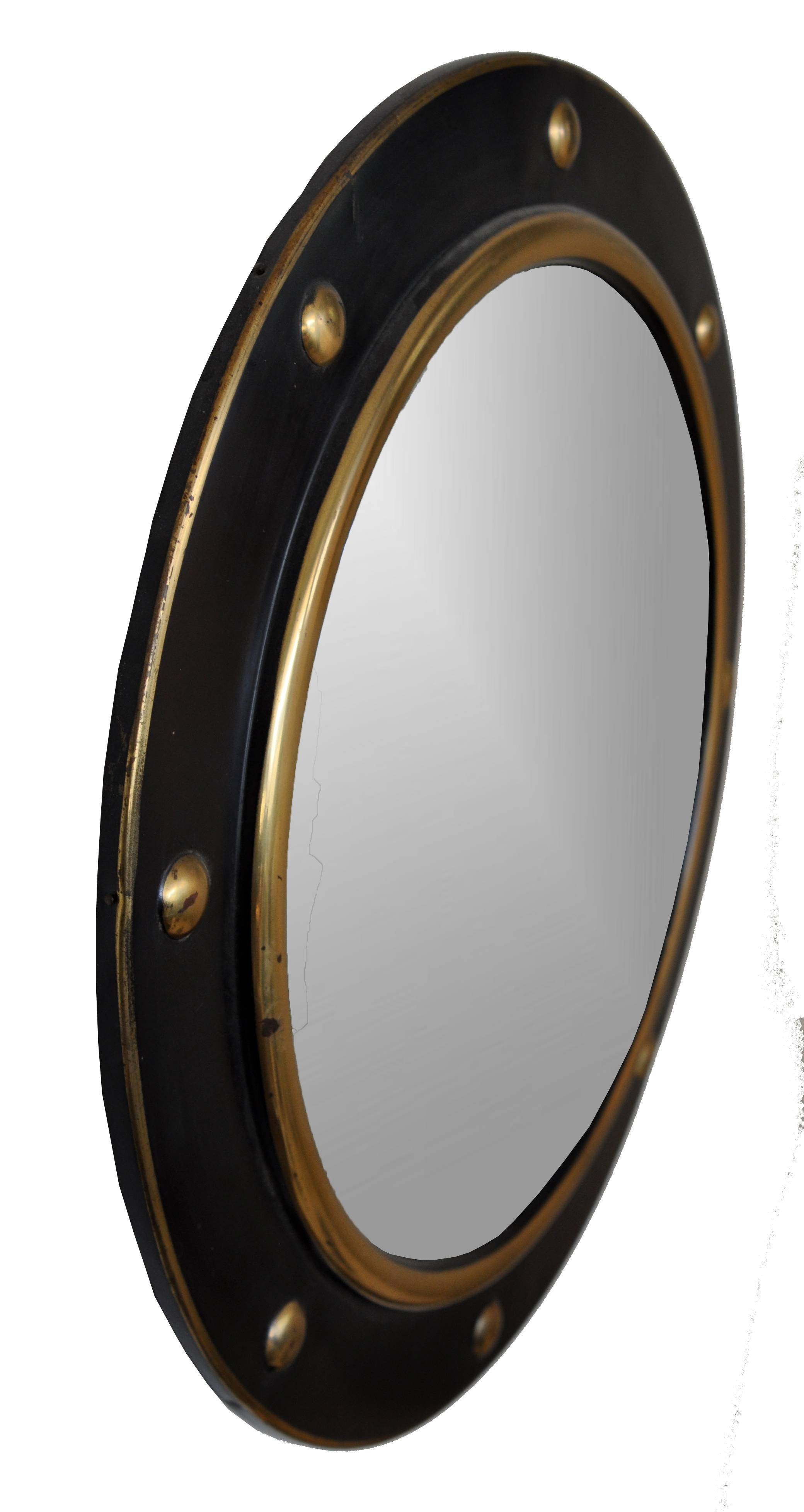 Antique Round Gilt Ball Convex Mirror - Mecox Gardens intended for Round Convex Mirrors (Image 8 of 25)