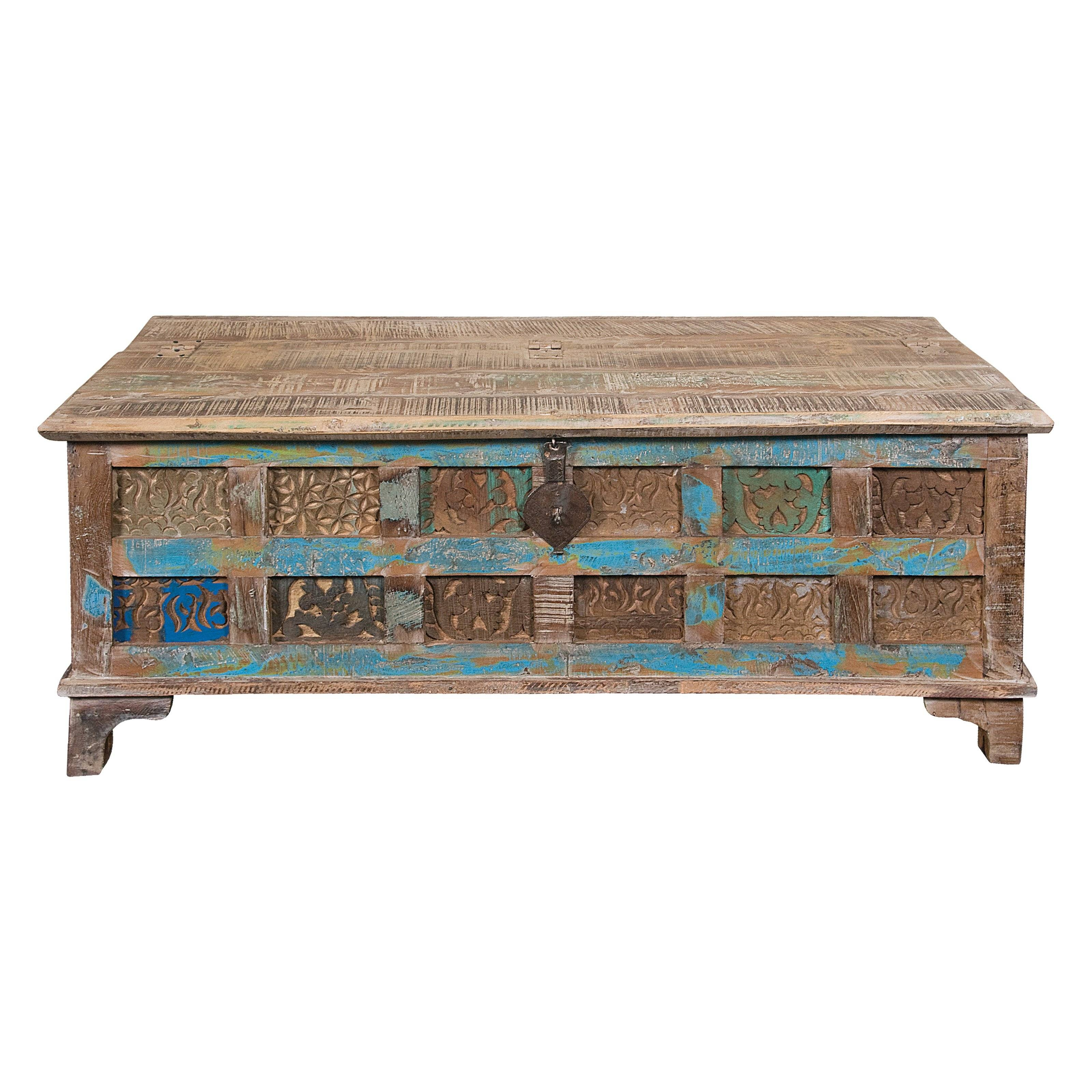 Antique Rustic Accent Coffee Table Design | Lanierhome Regarding Antique Rustic Coffee Tables (View 21 of 30)