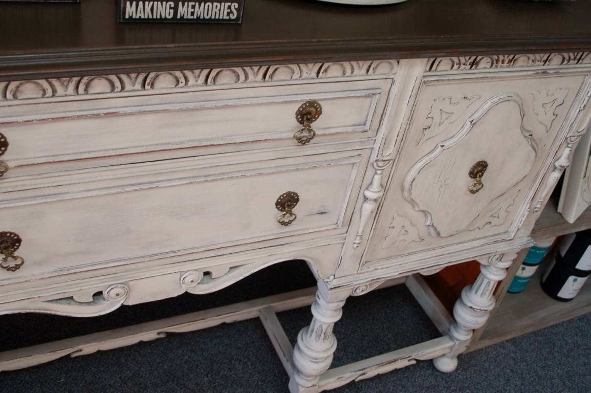 Antique Sideboard | Fabulously Finished within White Distressed Finish Sideboards (Image 3 of 30)