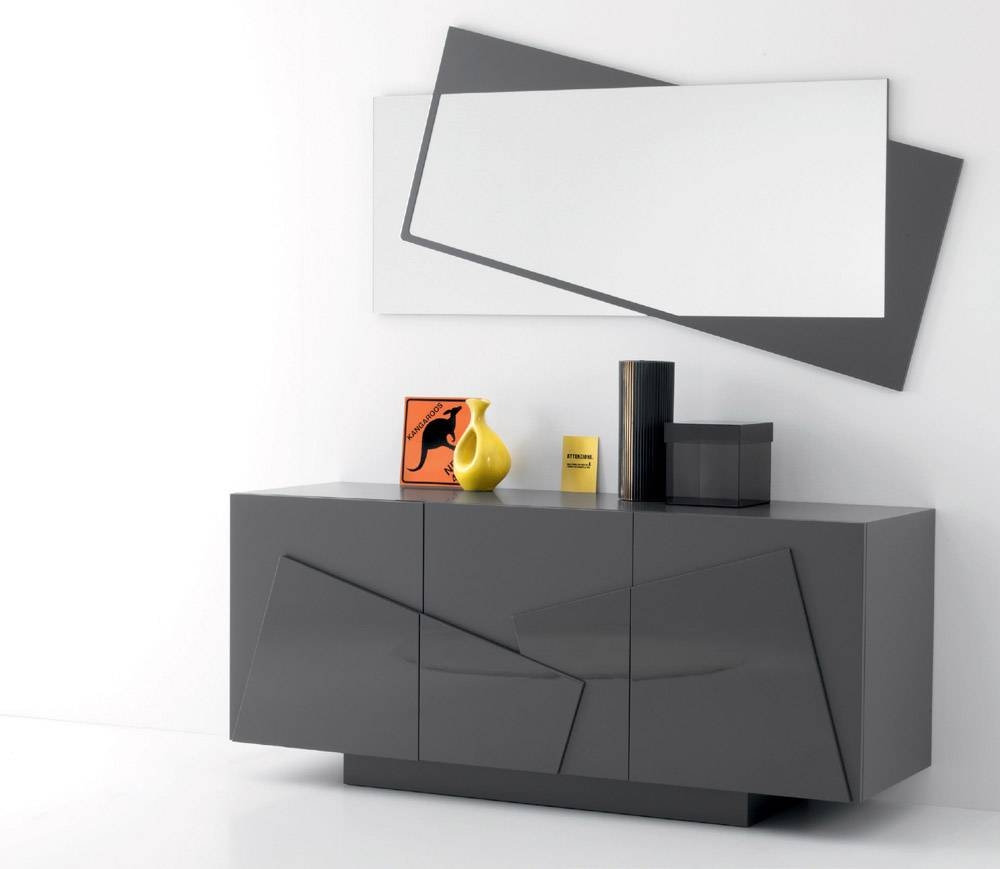 Antique Sideboard With Mirror Door — New Decoration : Antique within Grey Gloss Sideboards (Image 2 of 30)