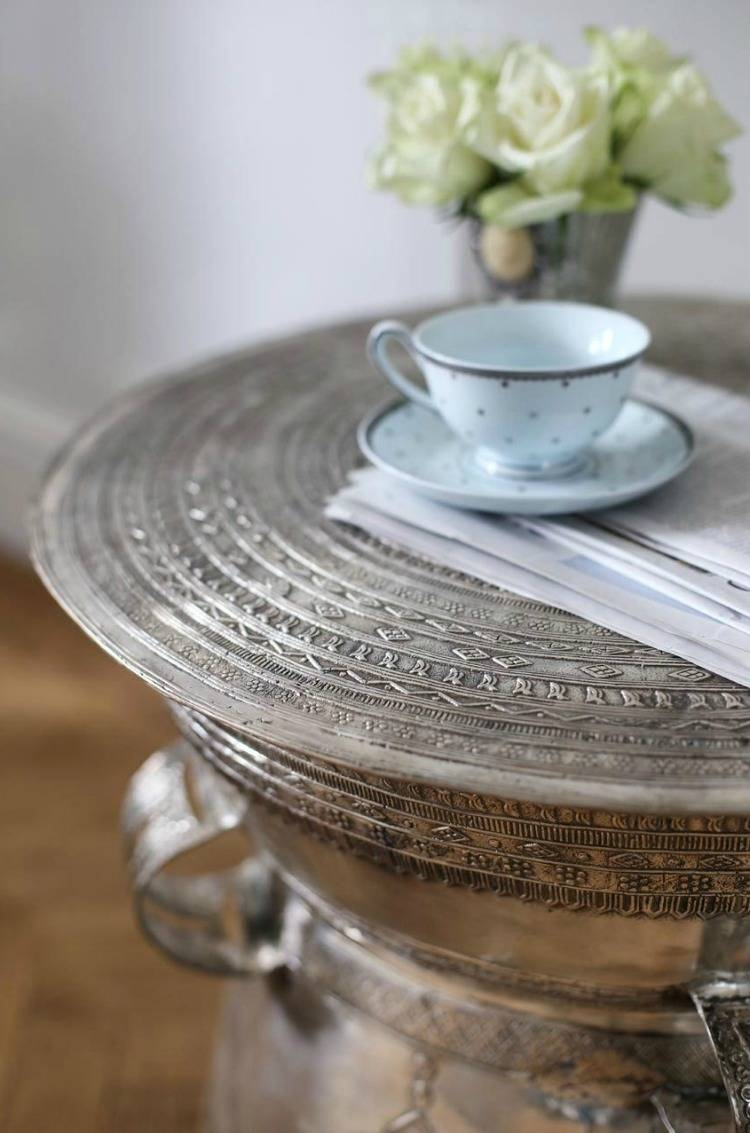 Antique Silver Coffee Table - Mad About The House within Silver Drum Coffee Tables (Image 5 of 30)