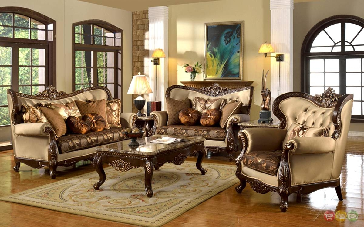 Antique Style Traditional Wing Back Formal Living Room Furniture regarding Vintage Sofa Styles (Image 4 of 30)