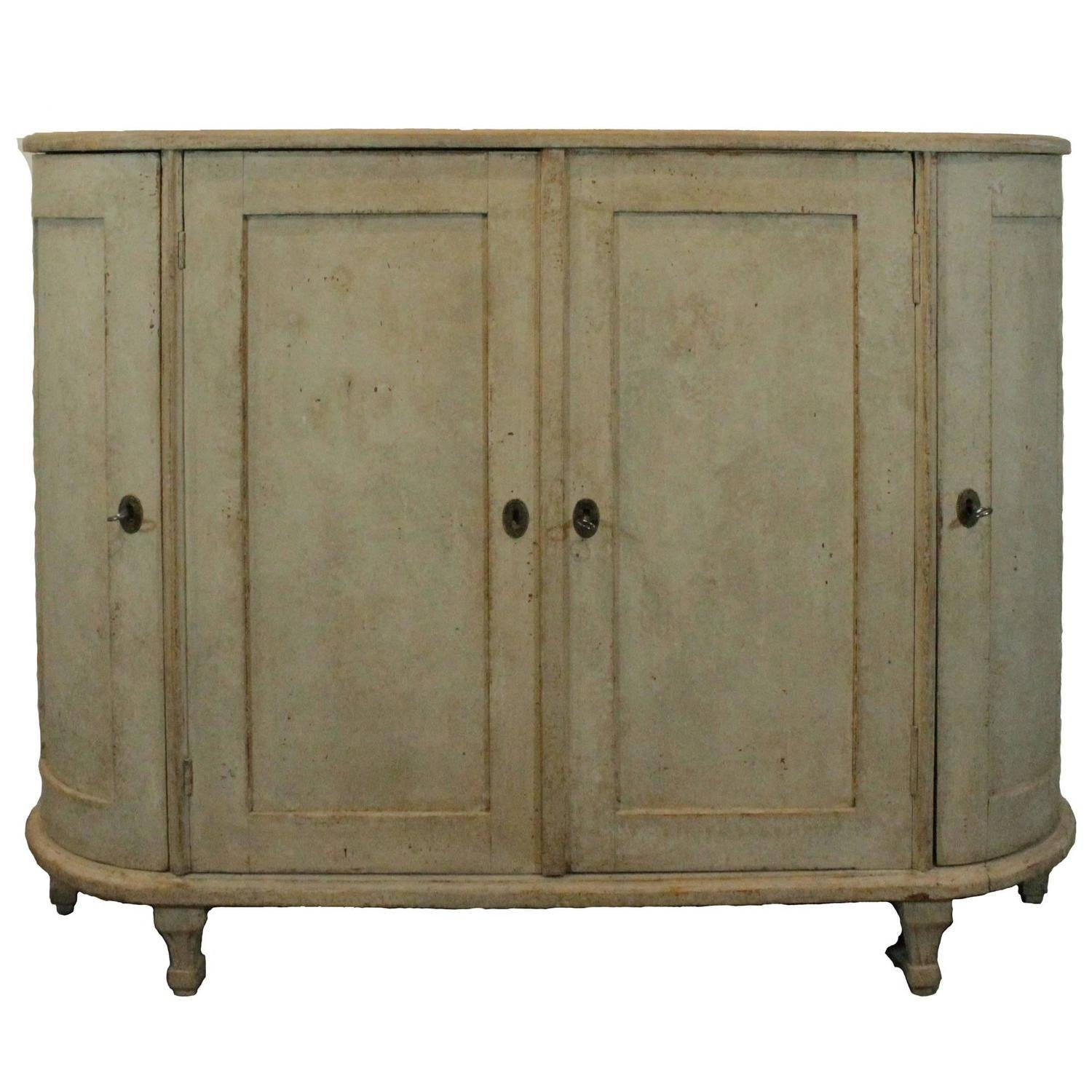 Antique Swedish Sideboard With Curved Sides, Early 19Th Century At with regard to Curved Sideboards (Image 1 of 30)