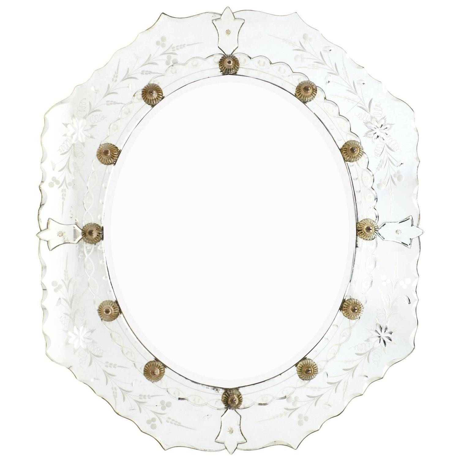 Antique Venetian Etched Mirror At 1Stdibs regarding Antique Venetian Glass Mirrors (Image 2 of 25)