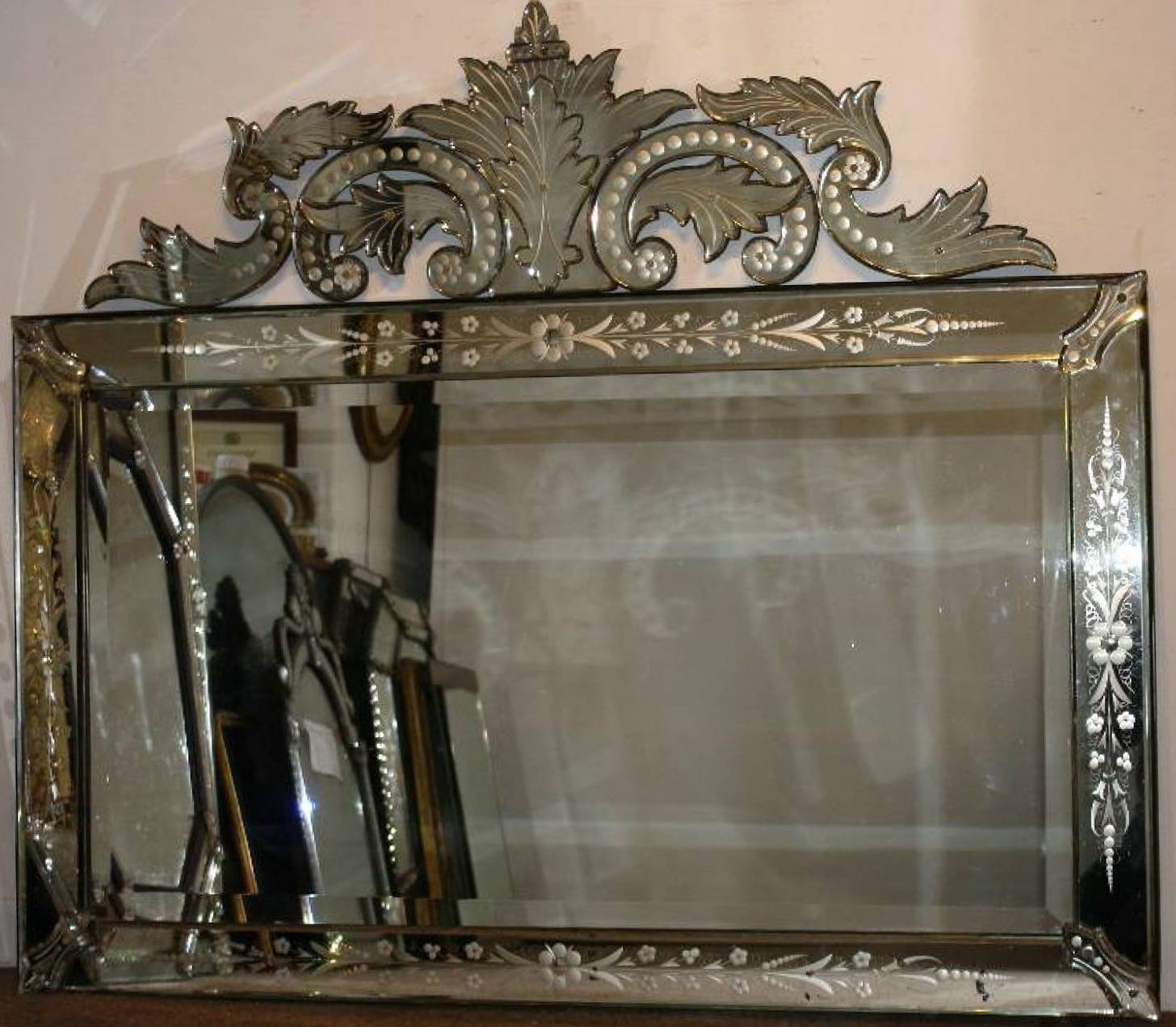 Antique Venetian Glass Mirror | Home Design Ideas with regard to Antique Venetian Glass Mirrors (Image 8 of 25)