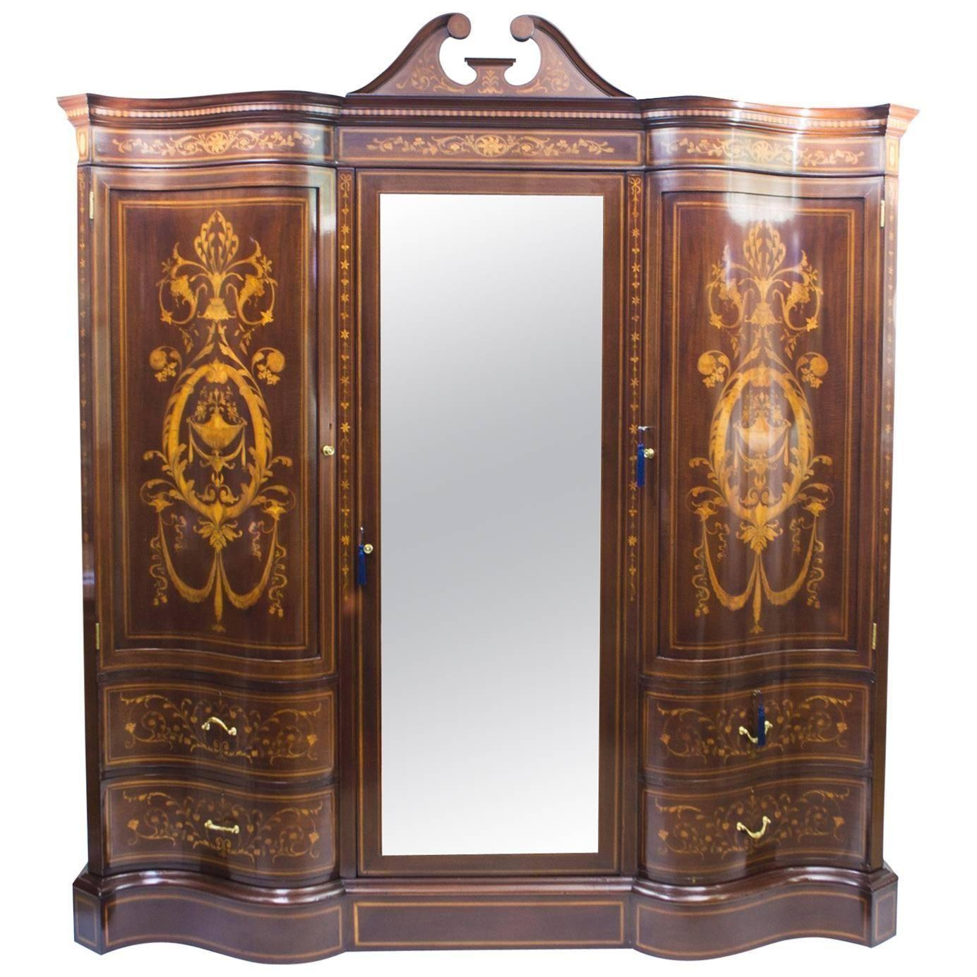 Antique Victorian Wardrobeedwards And Roberts, Circa 1880 For throughout Victorian Style Wardrobes (Image 5 of 15)